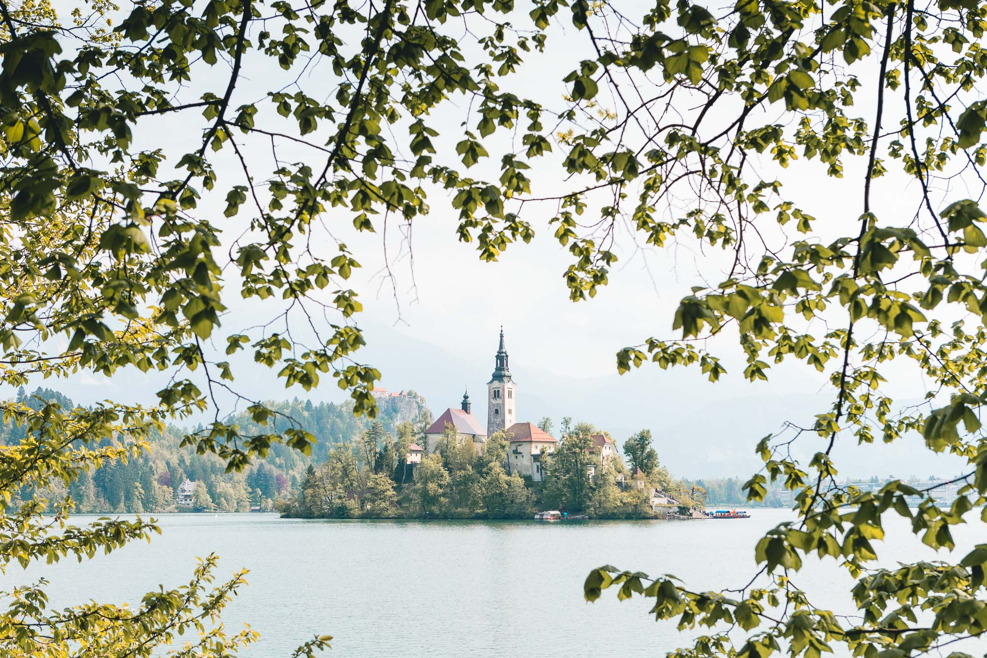Cathedral on the lake in Bled, Slovenia
