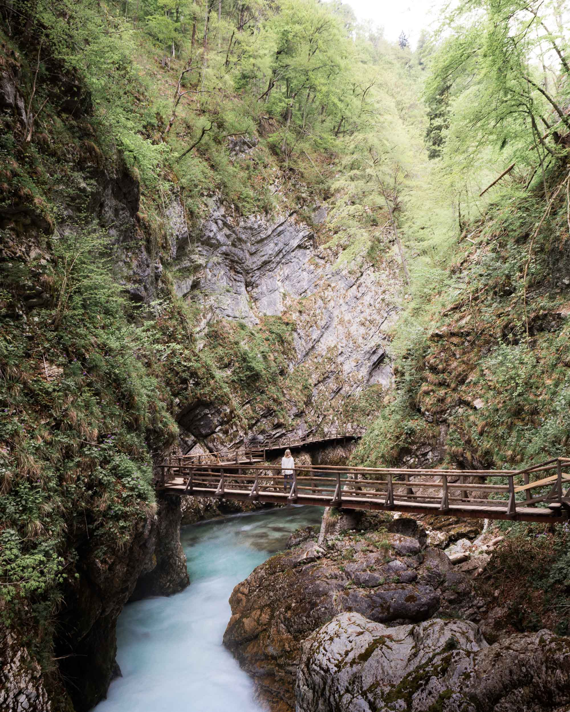 Vintgar gorge near Lake Bled, Slovenia