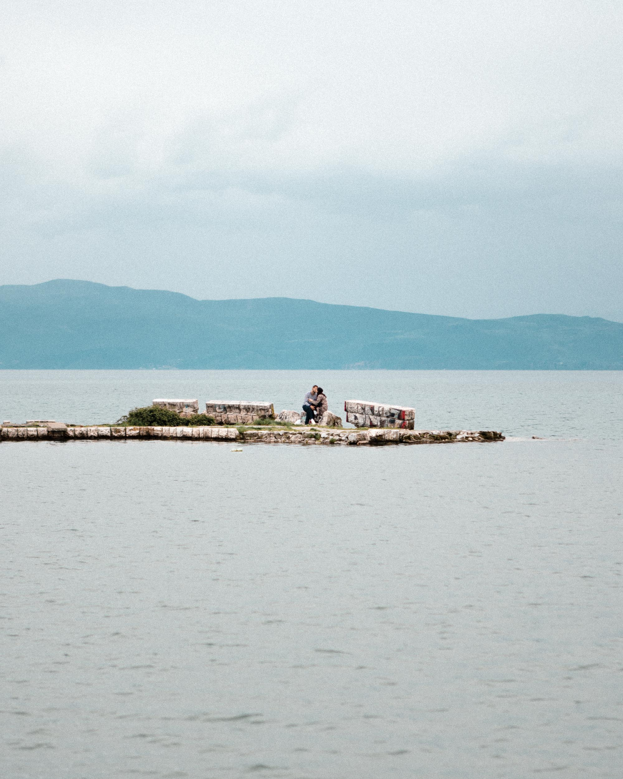 Couple on Lake Ohrid, Macedonia