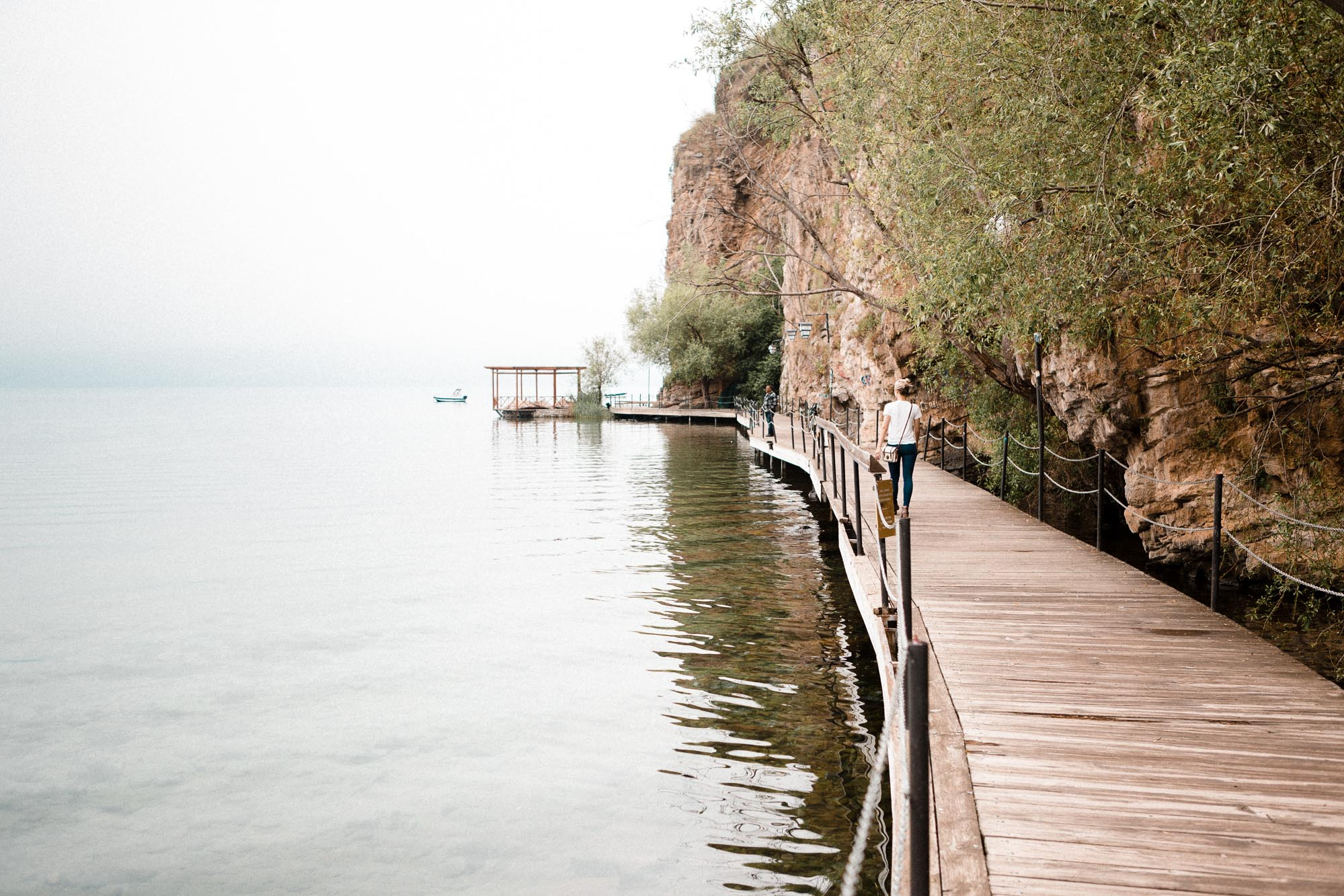 walking path on the water lake ohrid macedonia