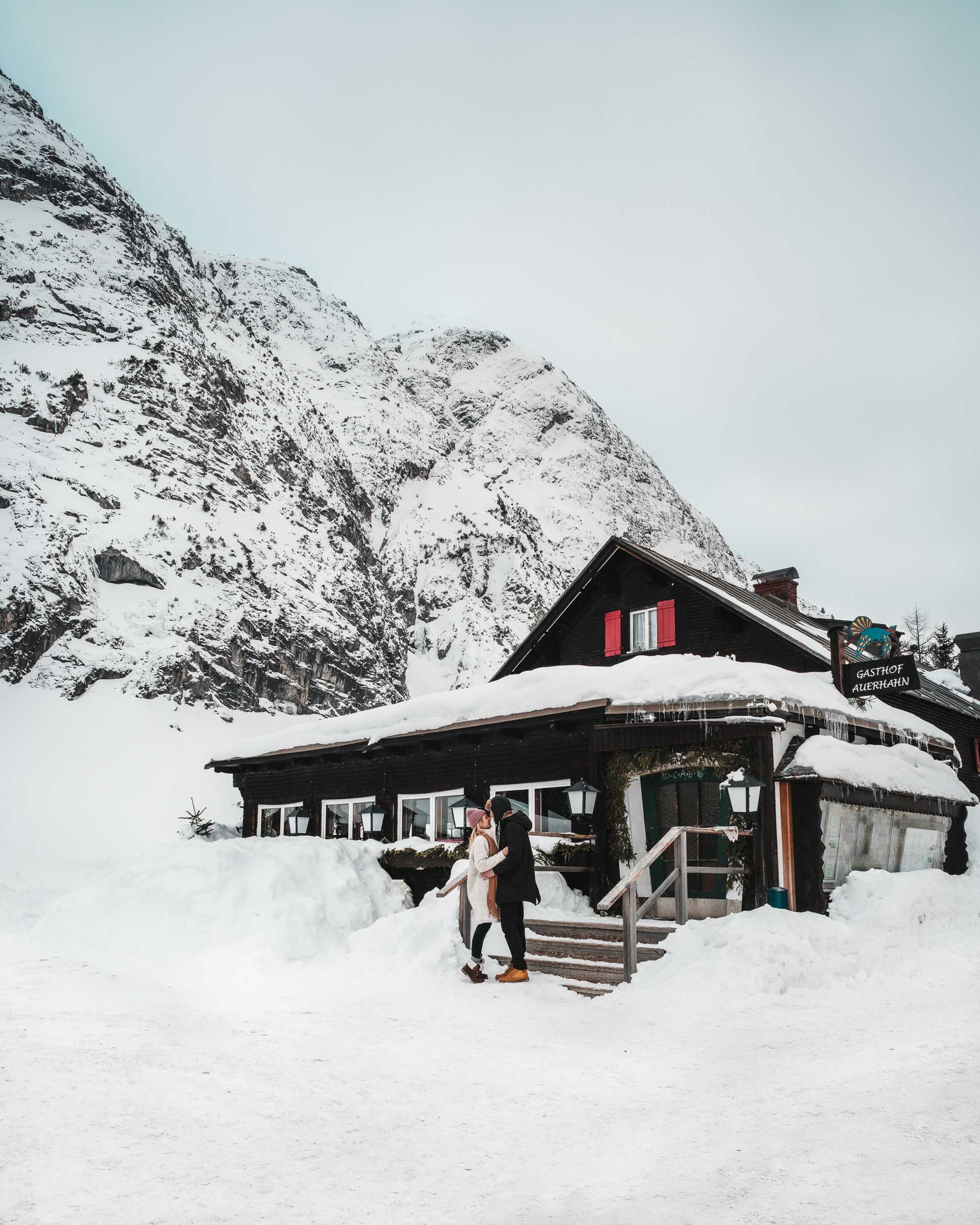 Travel Bloggers Selena Taylor and Jacob Taylor of Find Us Lost in Lech Austria Ski Town