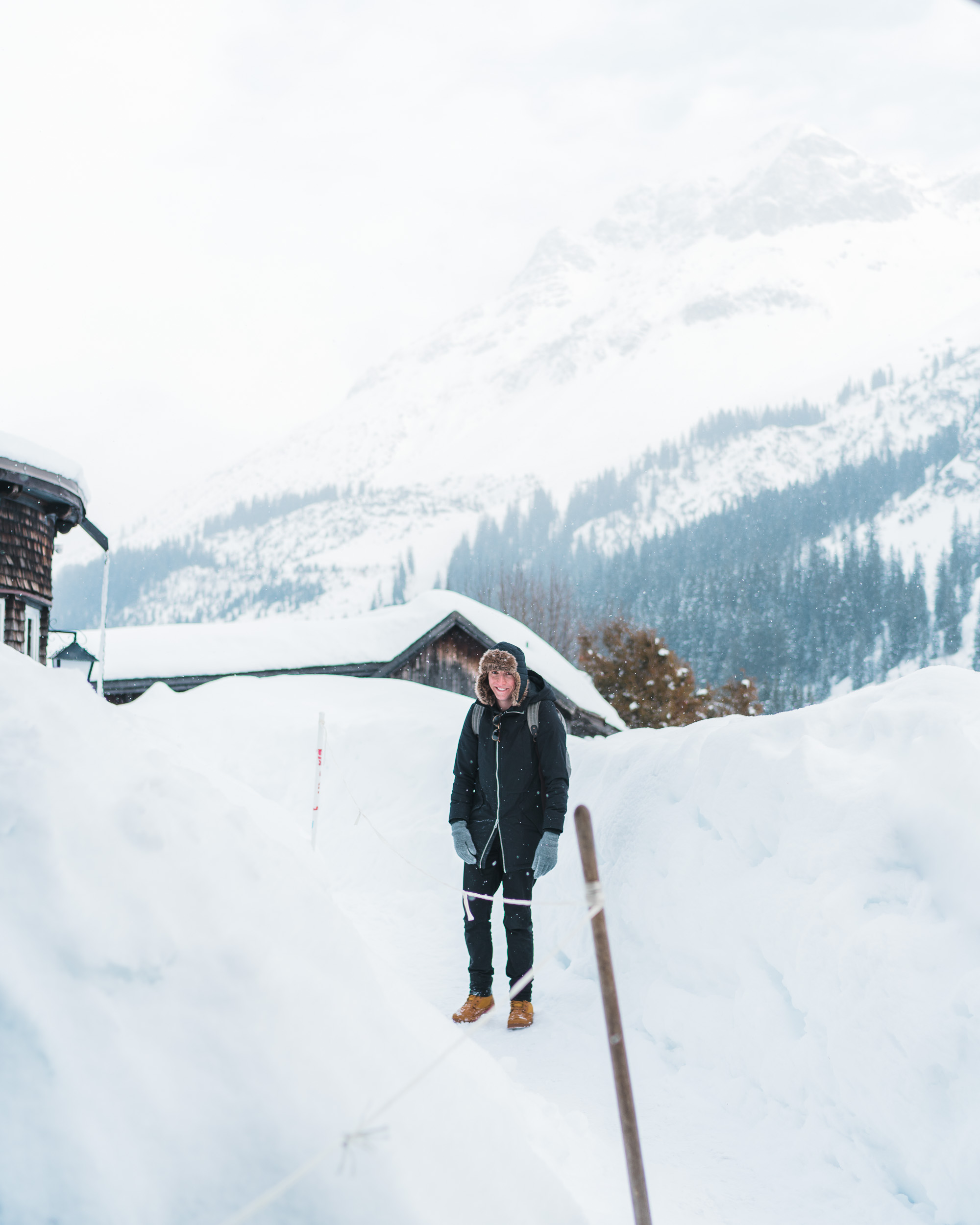 Travel Blogger Jacob Taylor of Find Us Lost in Lech Austria Ski Town