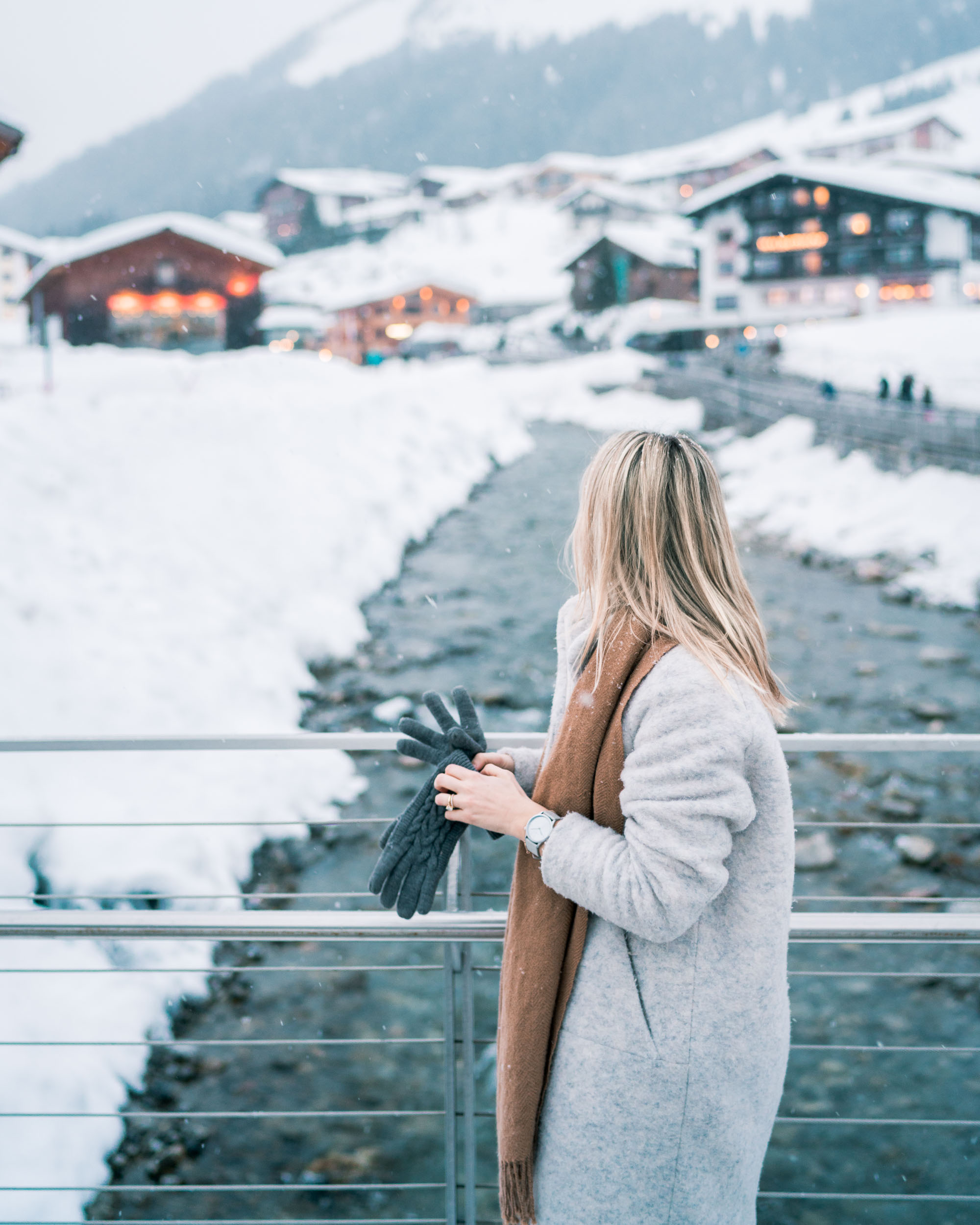 Travel Blogger Selena Taylor of Find Us Lost in Lech Austria Ski Town