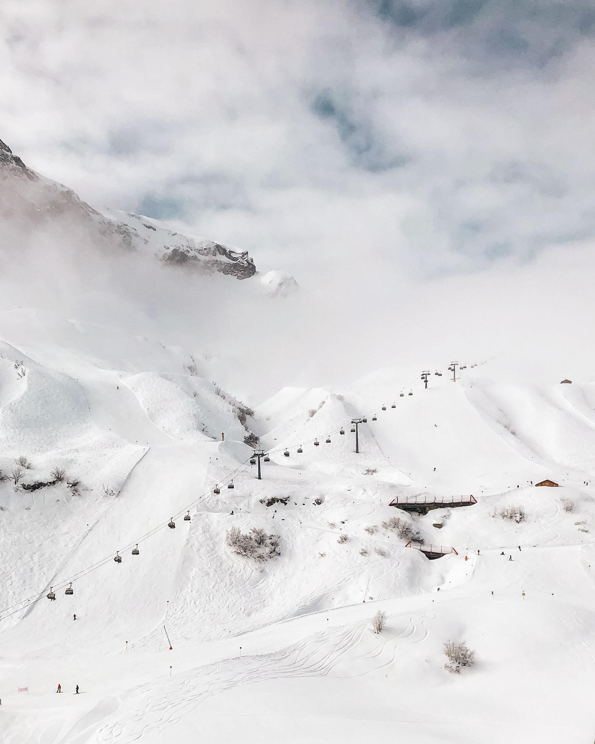 Ski slopes in Lech Austria in Europe