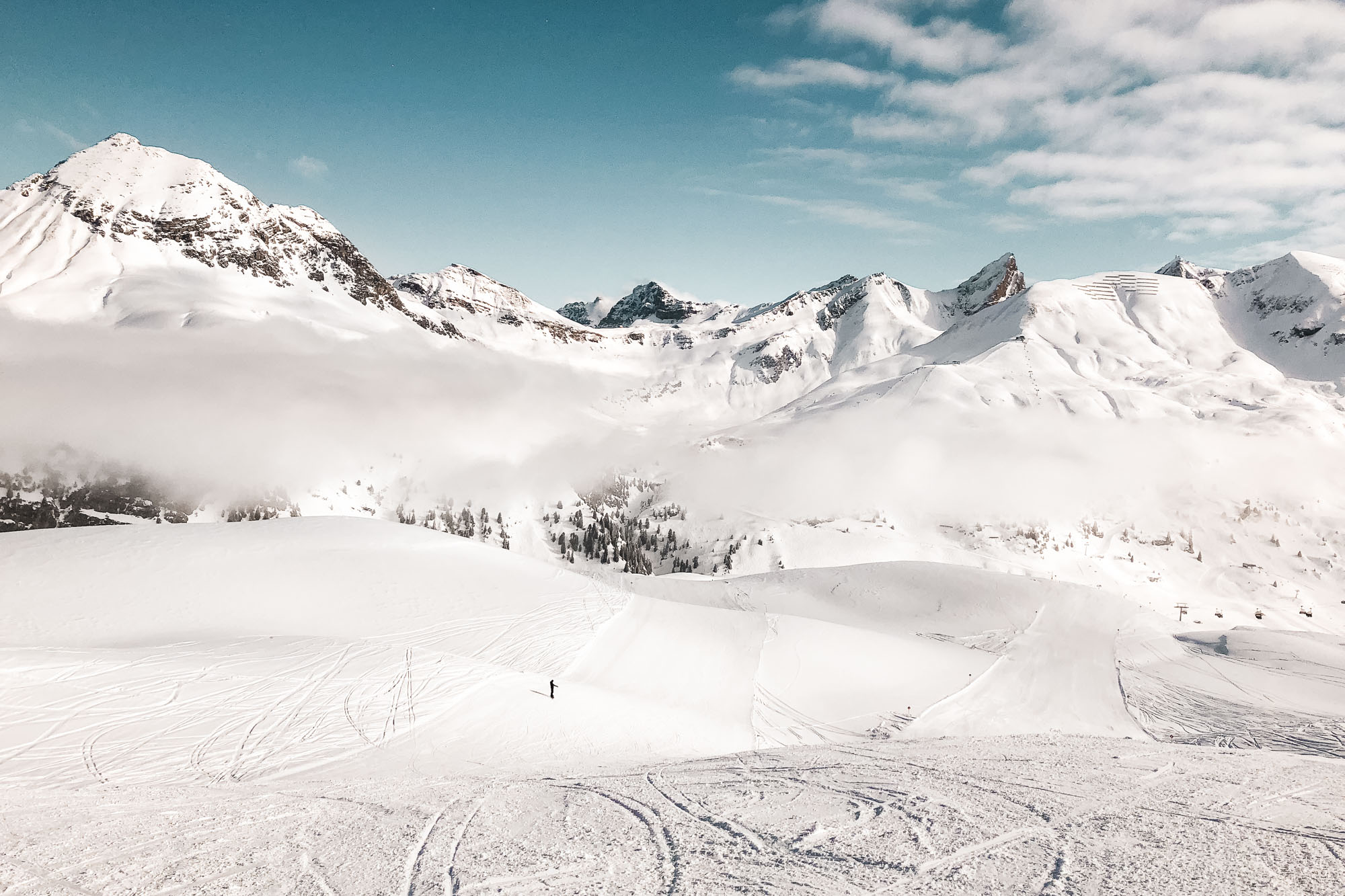 Ski slopes in Lech Austria in Europe