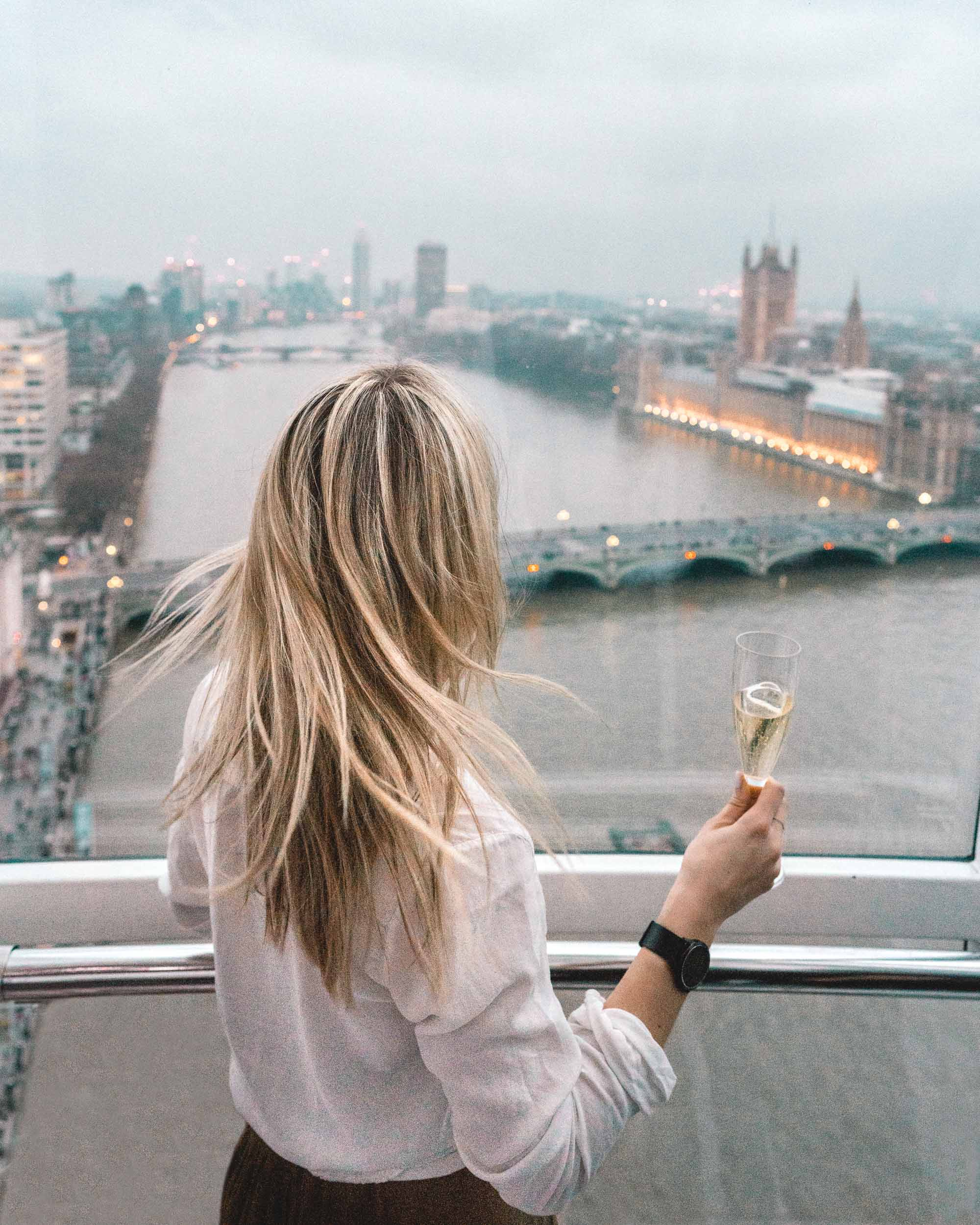 View from London eye england travel blogger Selena Taylor of Find Us Lost