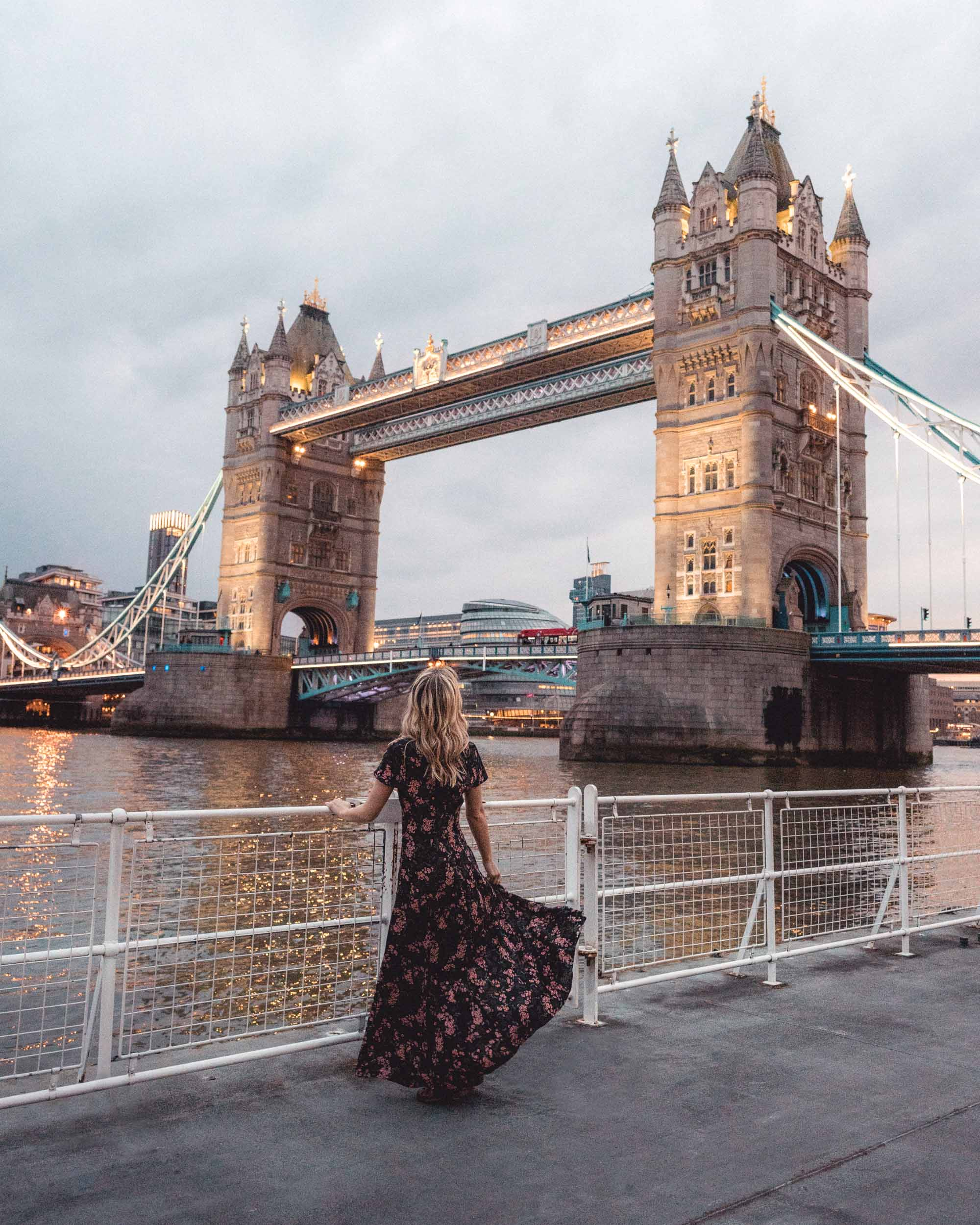Tower bridge sunset london england travel blogger Selena Taylor of Find Us Lost