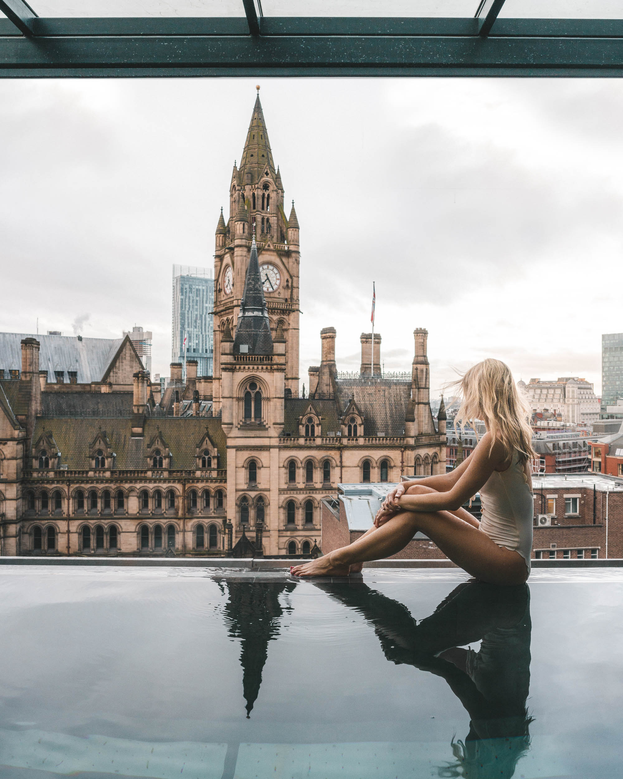 King street townhouse hotel rooftop pool city view Manchester England United Kingdom 24 Hour Guide one day Find Us Lost Selena Taylor
