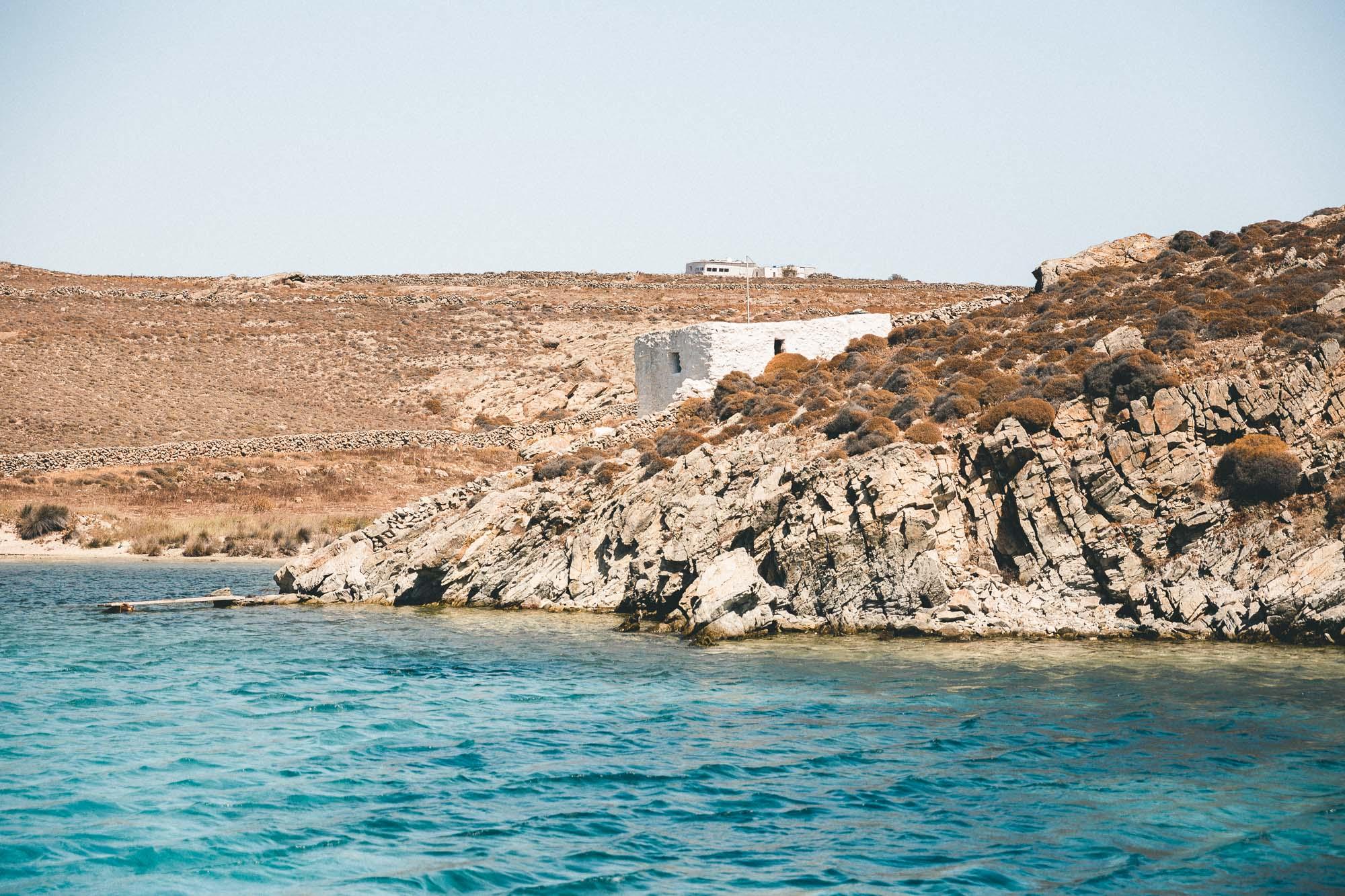 Greek white houses coast of mykonos sailing the mediterranean sea in the greek islands