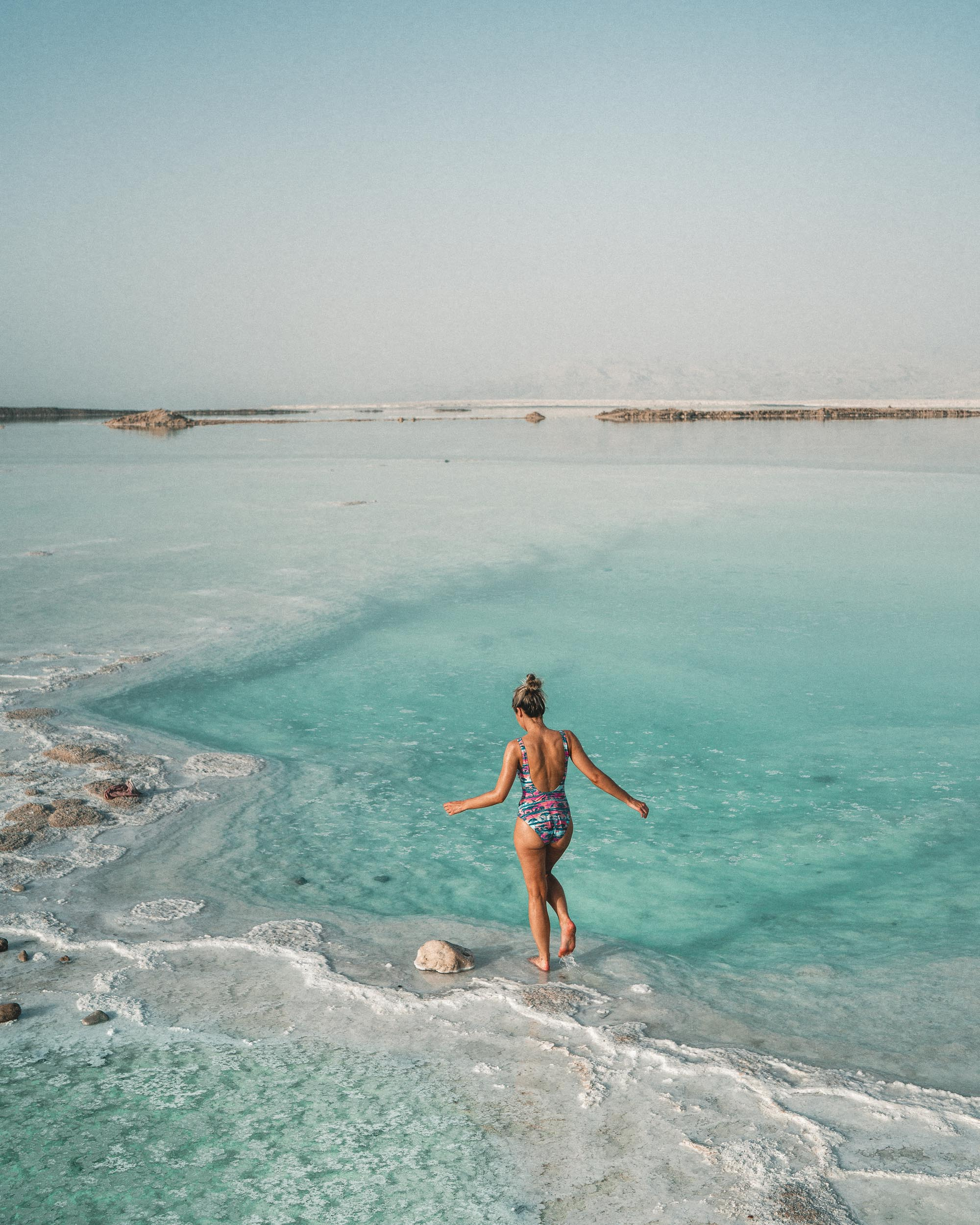 Salt at the dead sea in israel find us lost