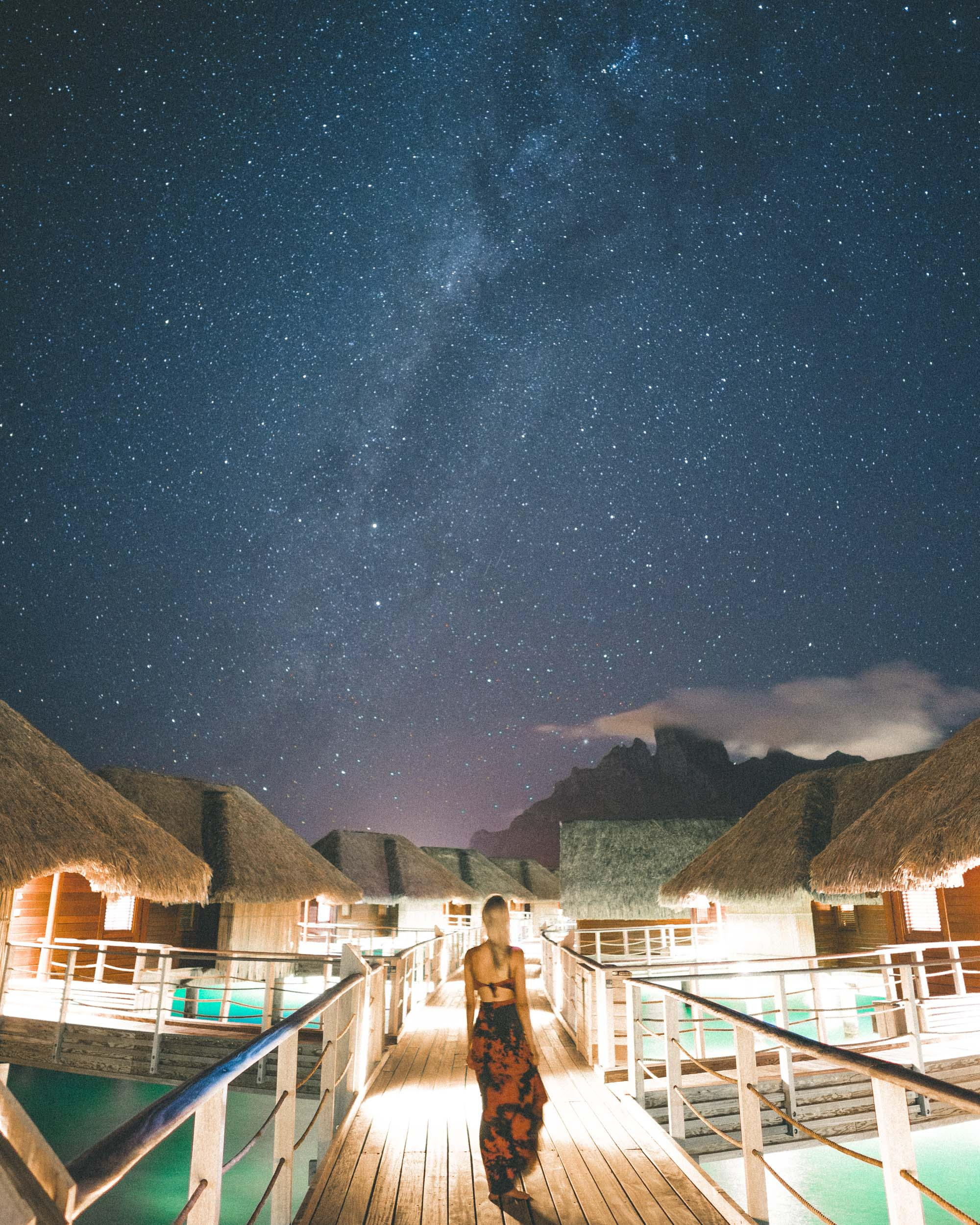 Starry sky in bora bora tahiti four seasons resort by Find Us Lost