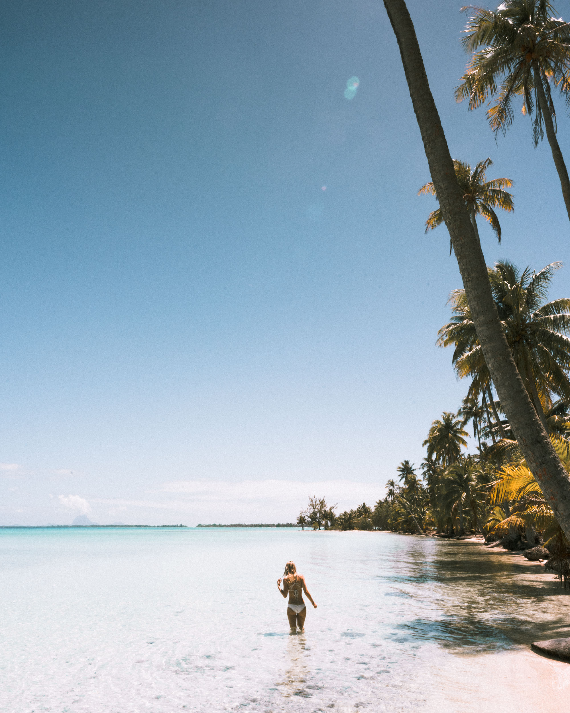 Clear blue water in tahiti french polynesia Find Us Lost