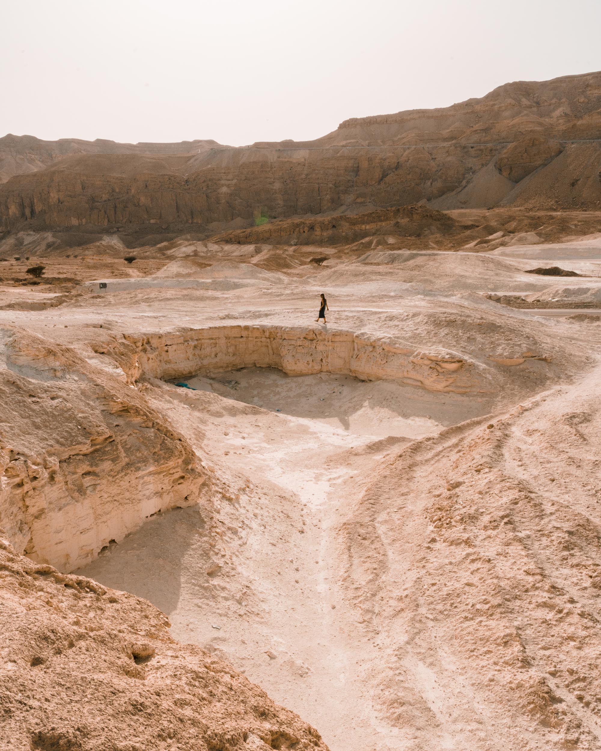 Dead Sea landscapes in the Negev Desert in Israel