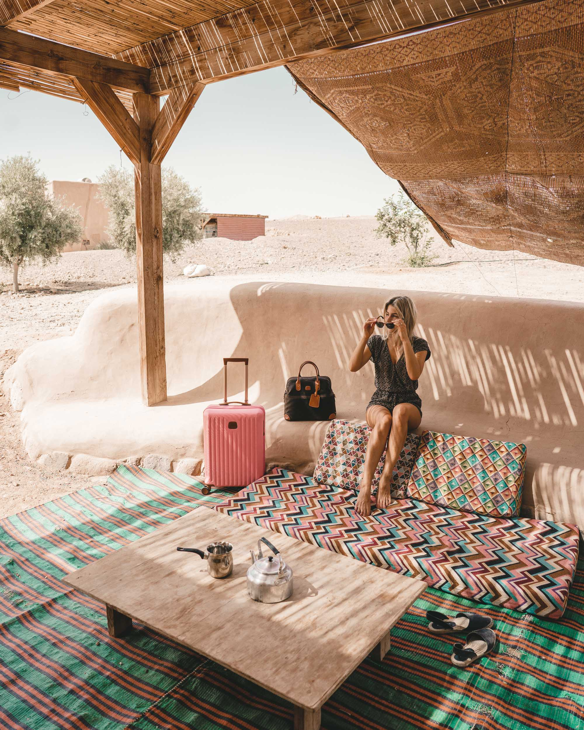 Mud huts at Desert Days camp in the Negev Desert Israel