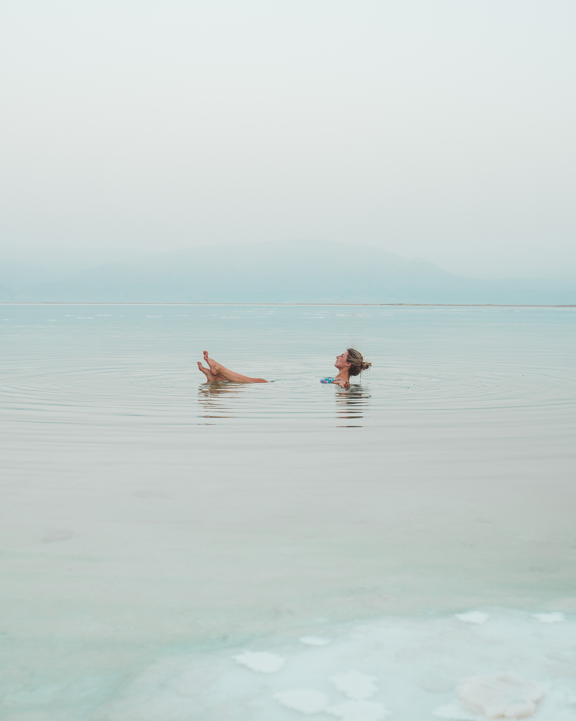 Dead sea floating in Israel