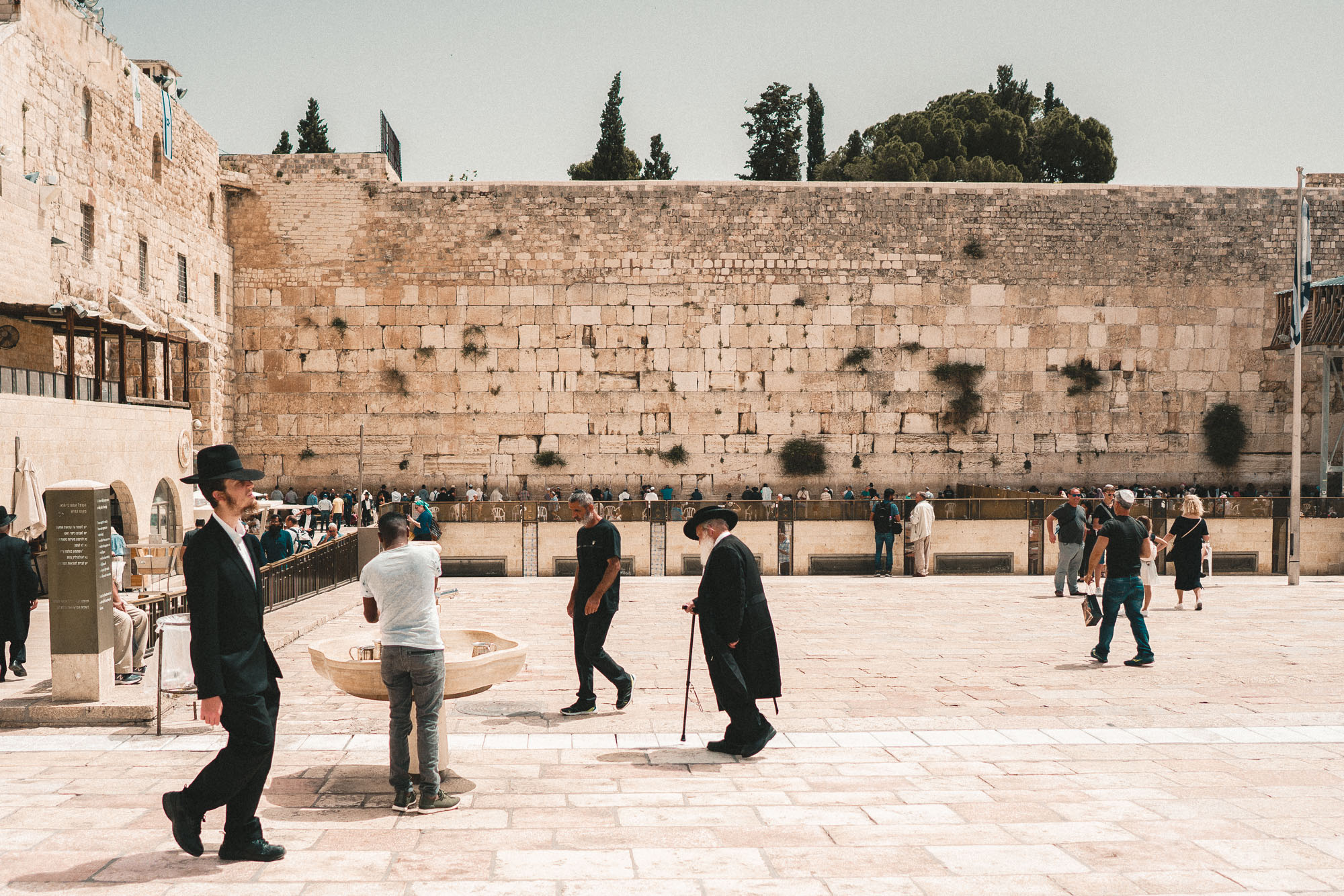 The western wall or wailing wall in Jerusalem's old town in Israel