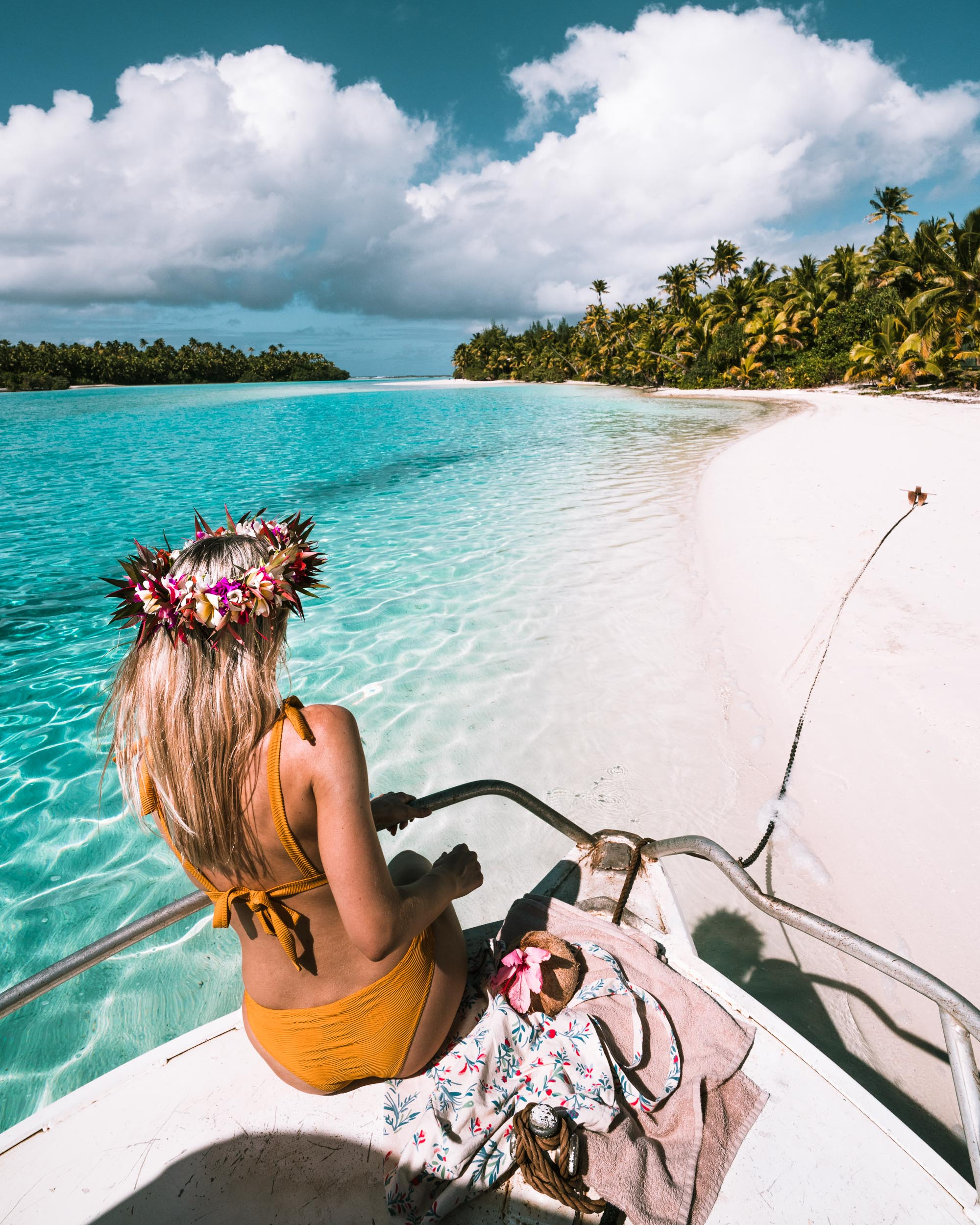 white sand beaches in the cook islands - find us lost