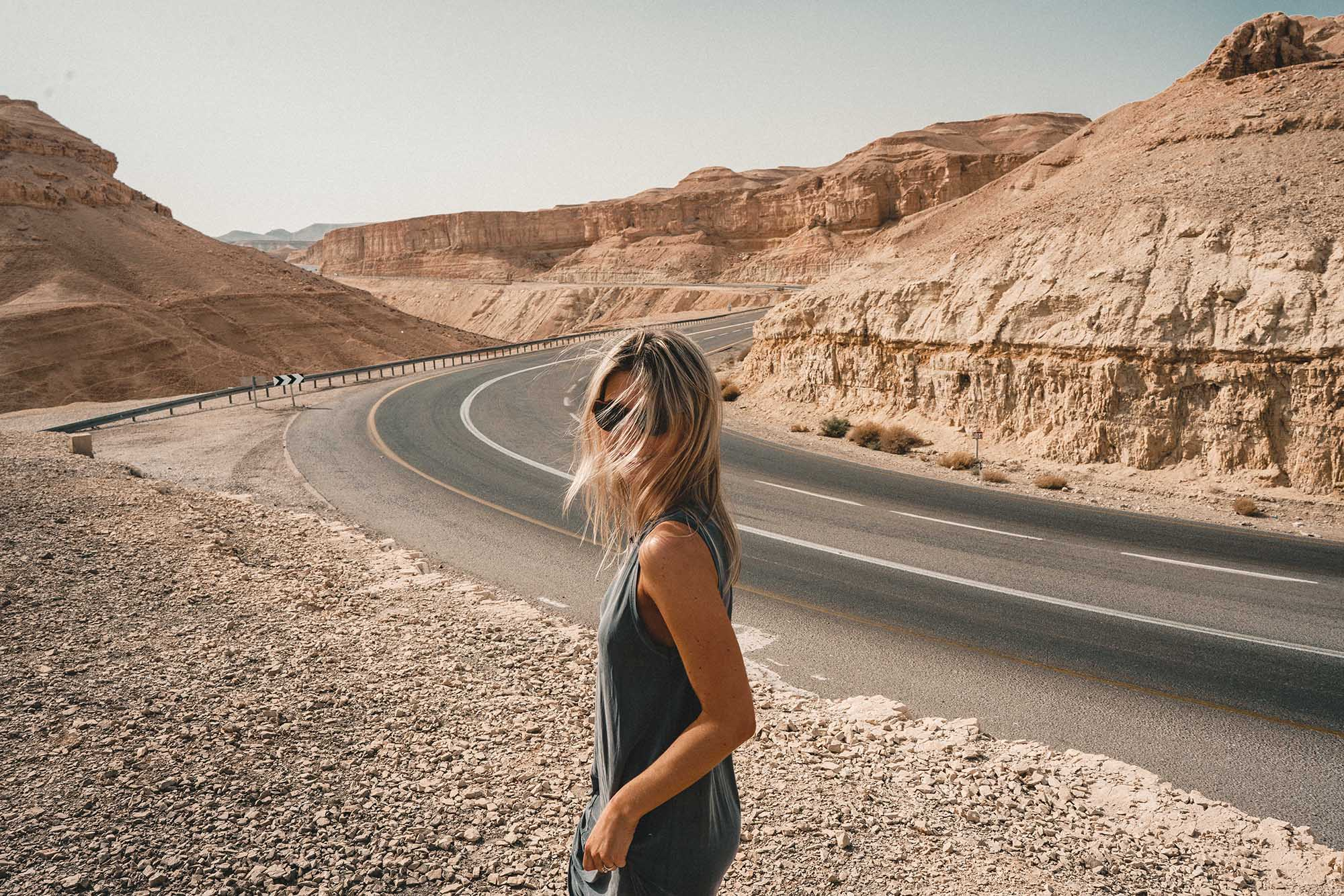 Road tripping through the dead sea region to the negev desert in Israel