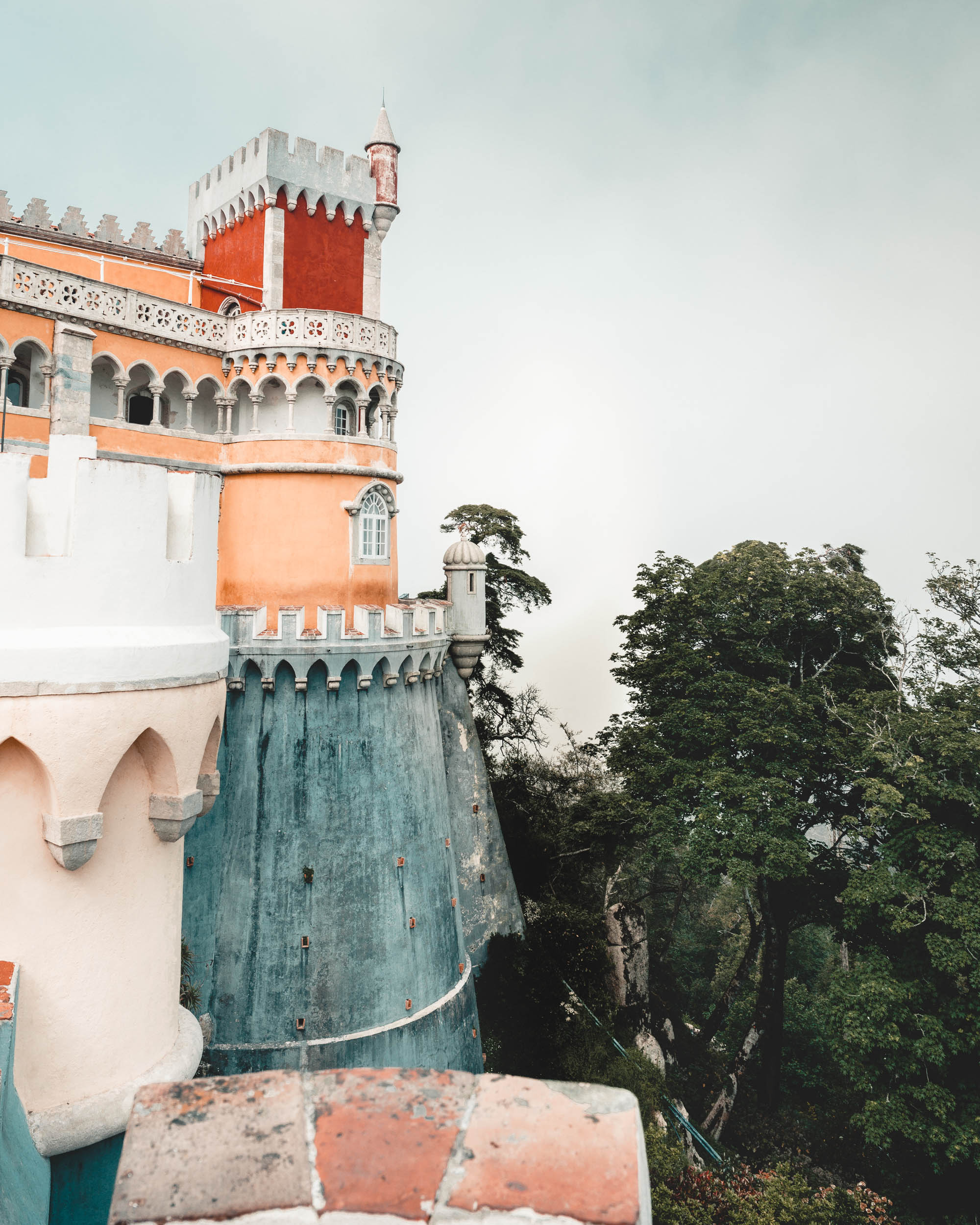 Pena Palace castle in Sintra, Portugal | Lisbon Travel Guide via Find Us Lost
