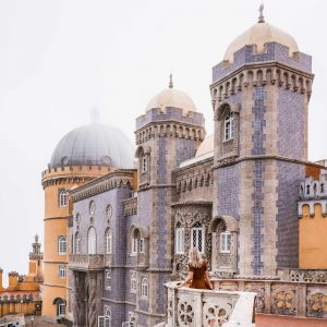 Pena palace, the colorful castle a day trip away from Lisbon in Sintra, Portugal