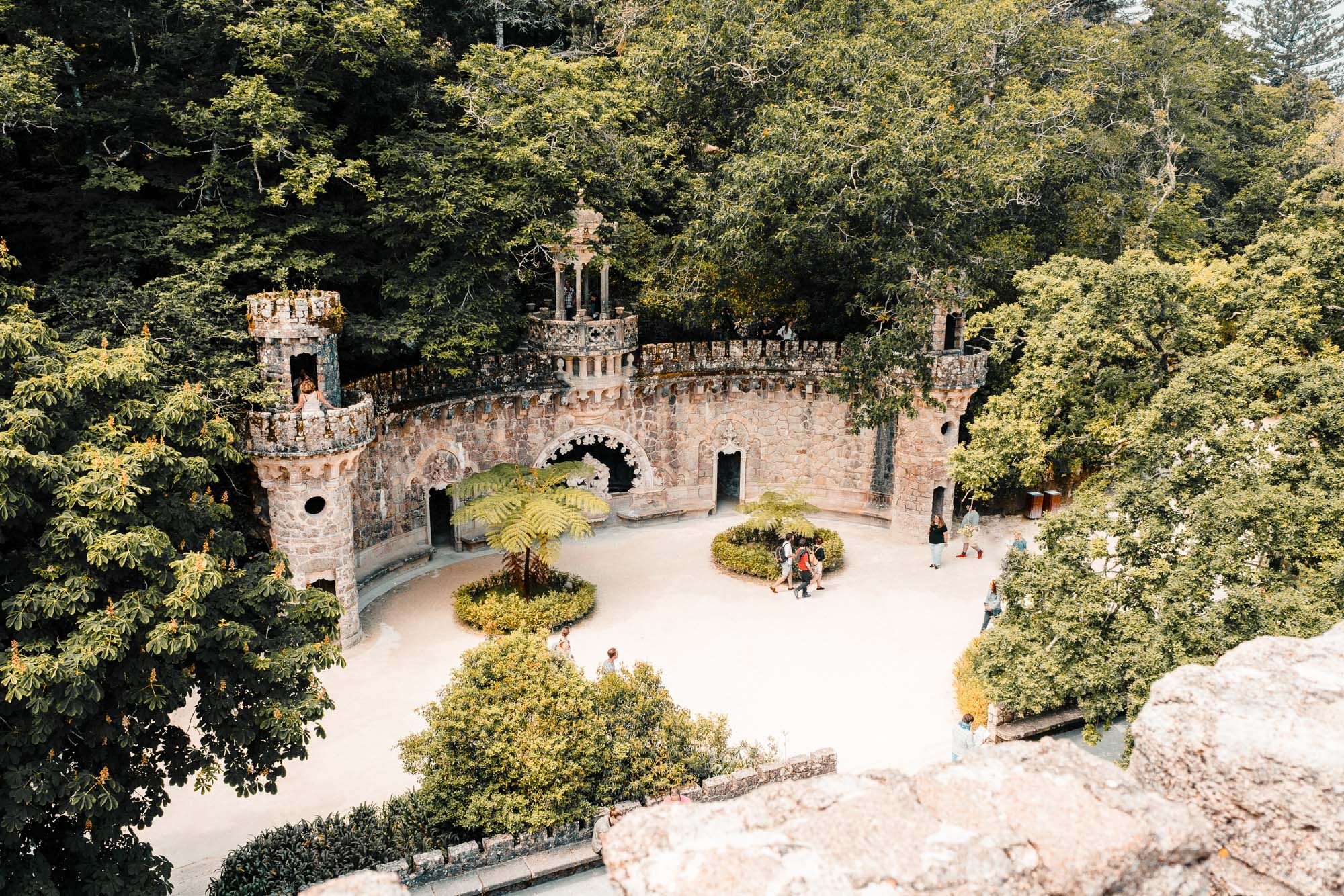The grounds of Quinta Da Regaleira near Lisbon in Sintra, Portugal