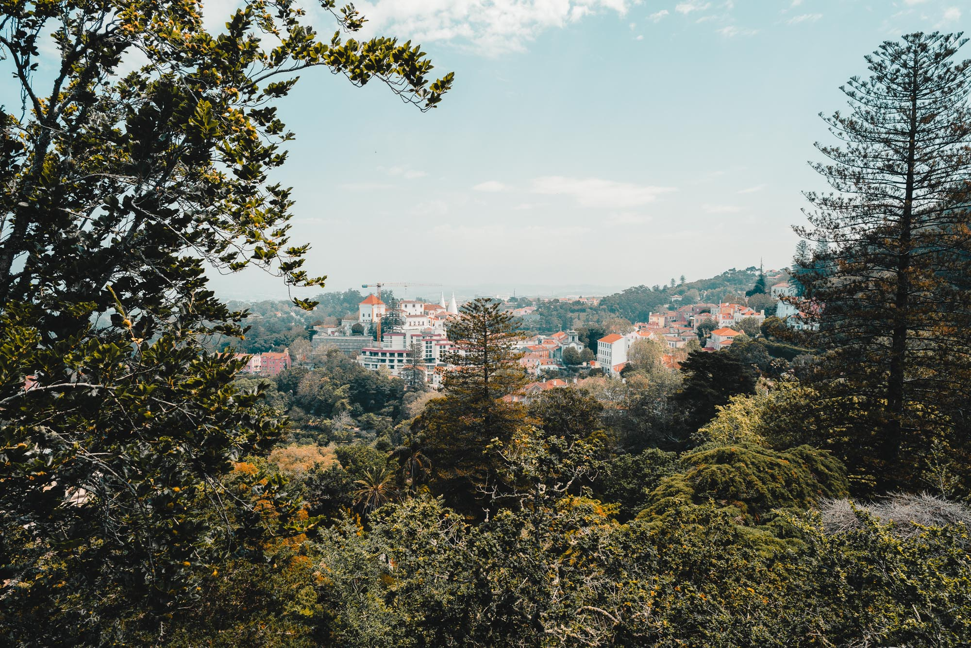 Views from Quinta Da Regaleira near Lisbon in Sintra, Portugal