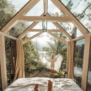 72 hour cabin in Baldersnas interior | West Sweden Travel Guide via @finduslost