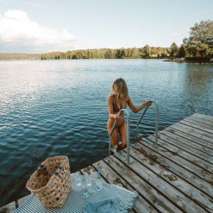 Swimming at Baldersnas lake in Dalsland, West Sweden via @finduslost
