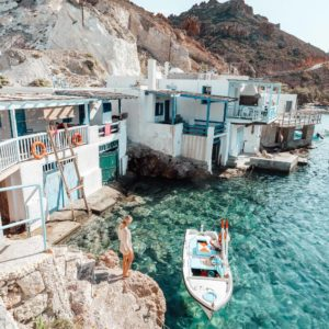 September Giveaways | Kleftiko caves in Milos, Greek Islands via @finduslost