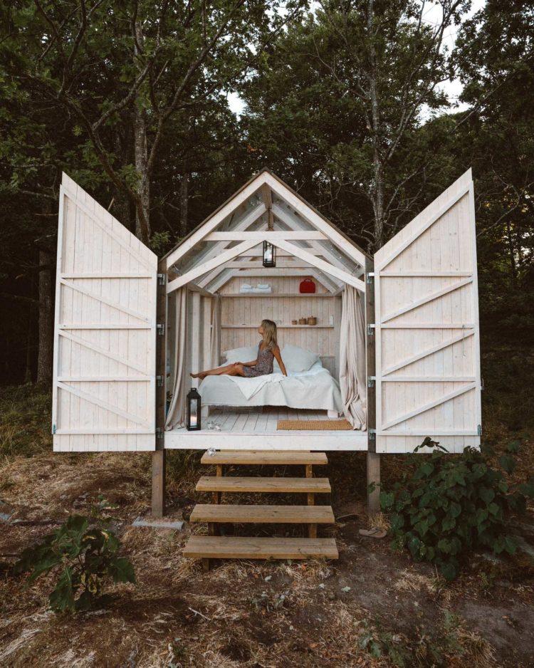 72 hour cabin in Baldersnas in summer   West Sweden Travel Guide via @finduslost