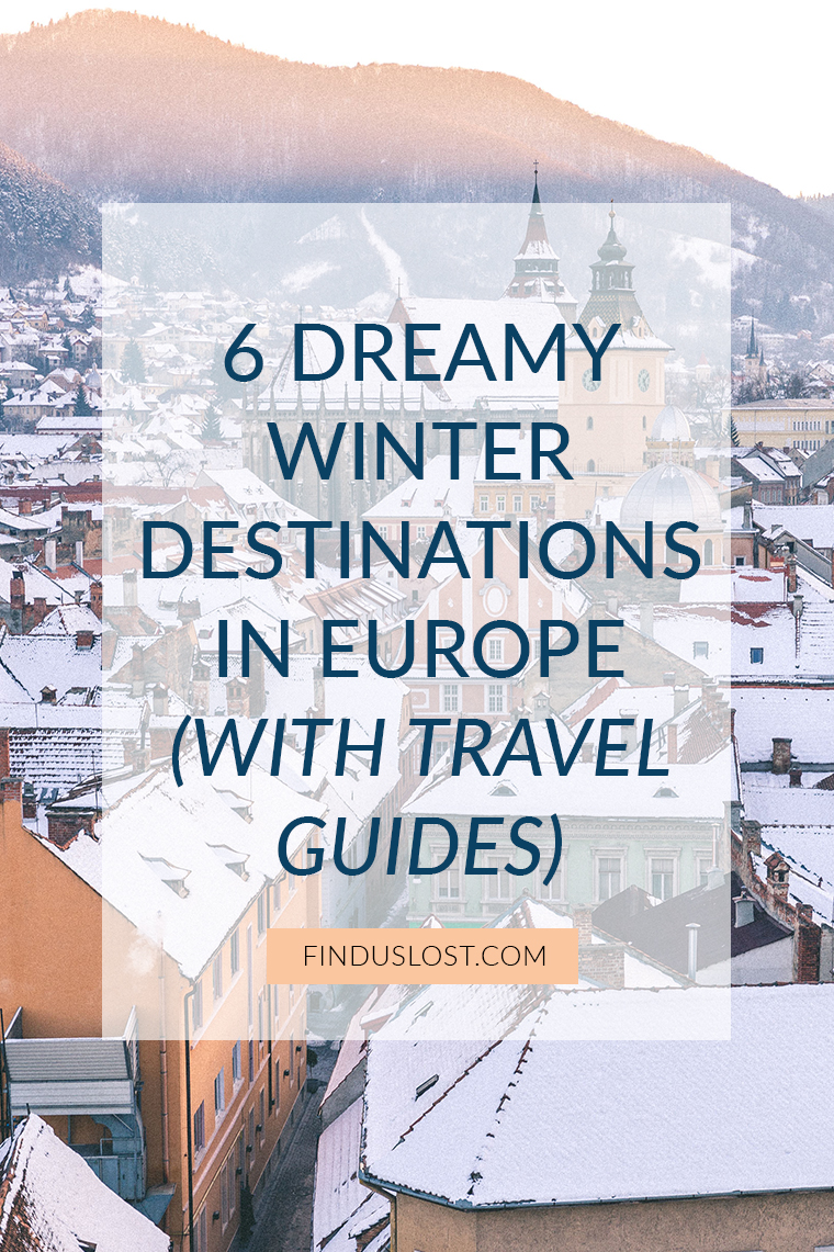 6 Dreamy Winter Destinations in Europe with Travel Guides via @finduslost