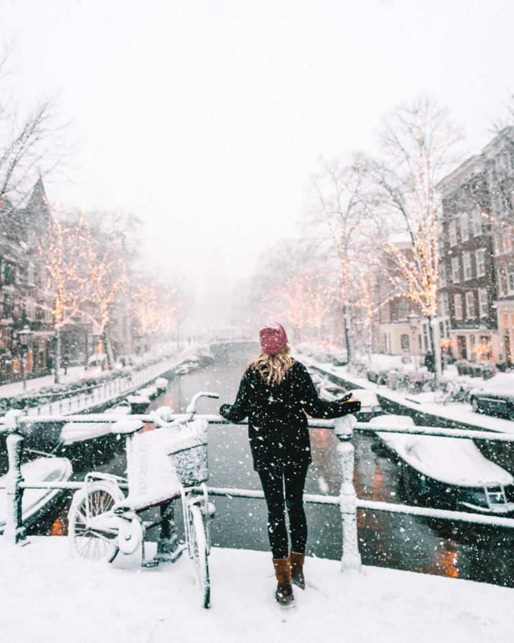 Amsterdam in the snow via @finduslost