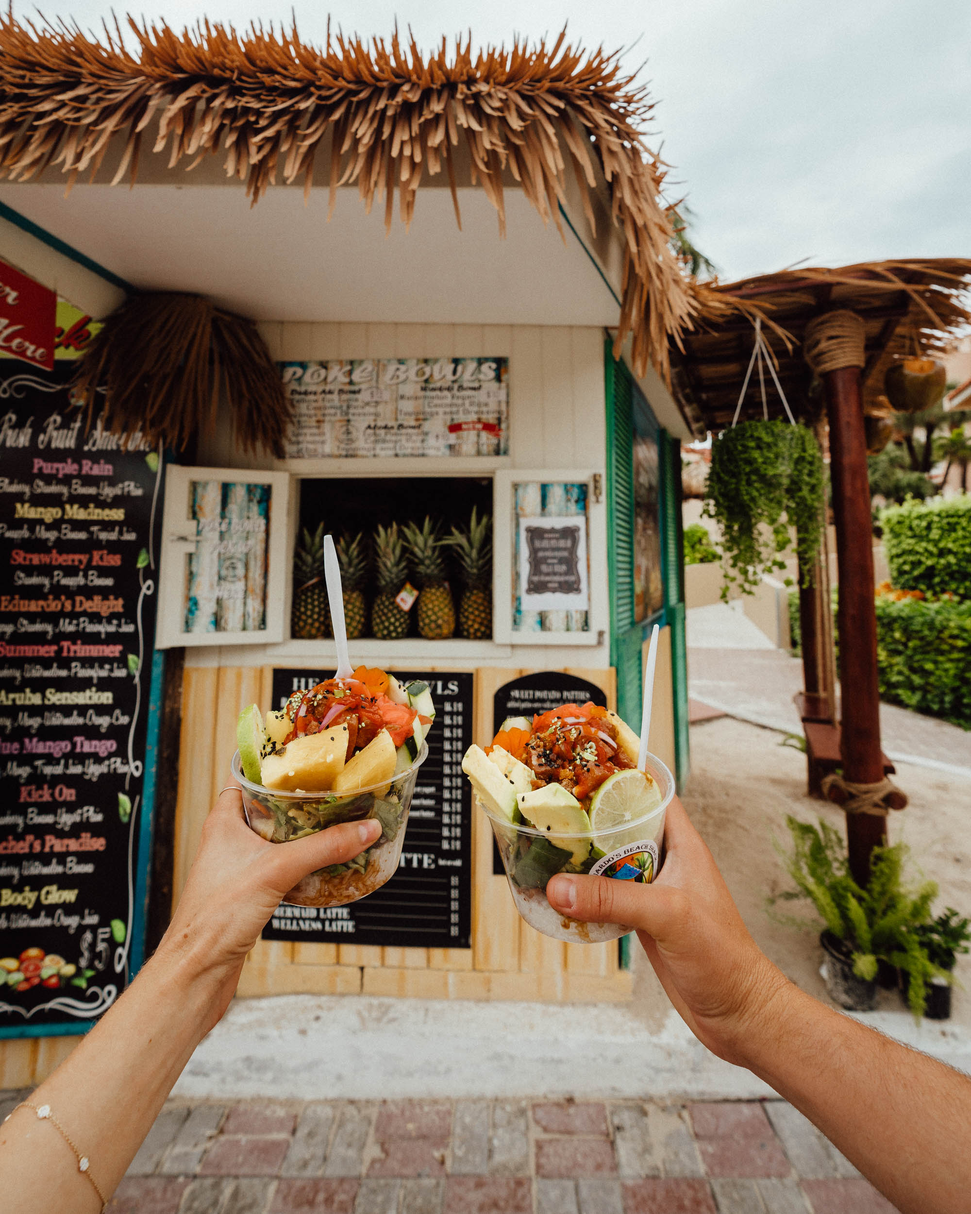 Eduardo's Beach Shack for poke in Aruba via Find Us Lost