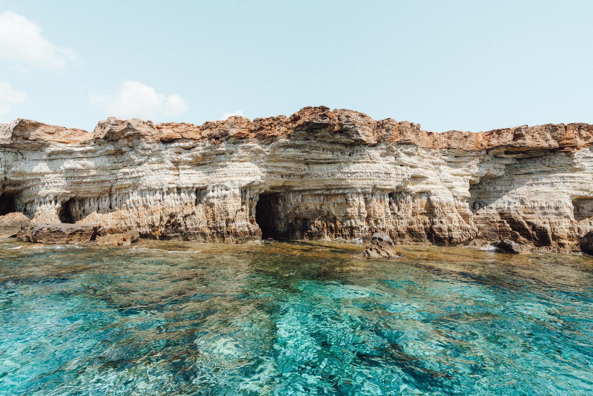 Sea caves in Ayia Napa Cyprus via @finduslost