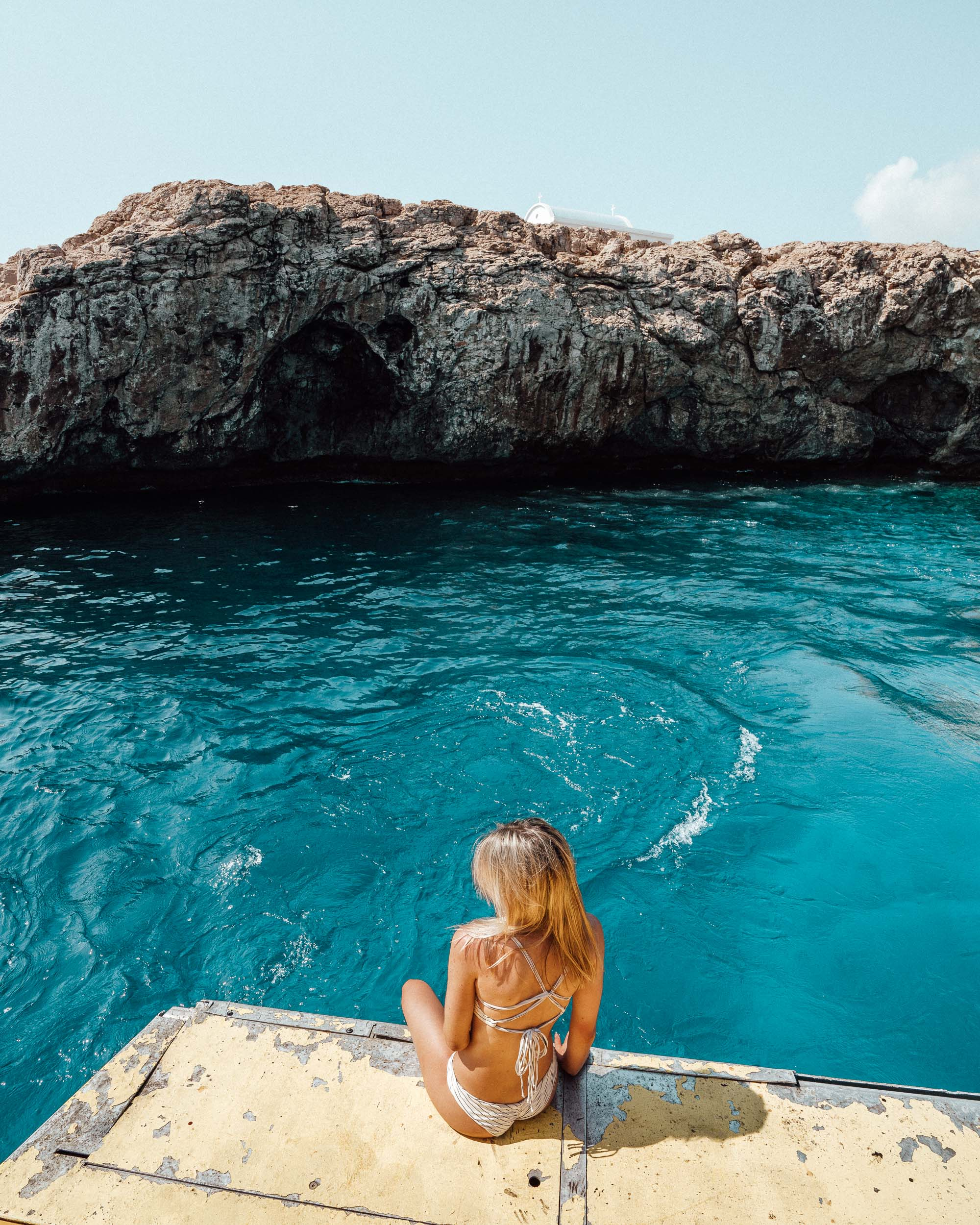 Sea caves in Paphos Cyprus via @finduslost