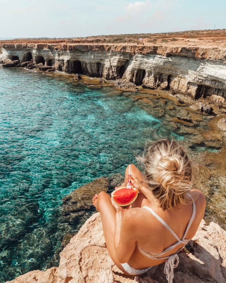 Sea Caves and Villages in Cyprus