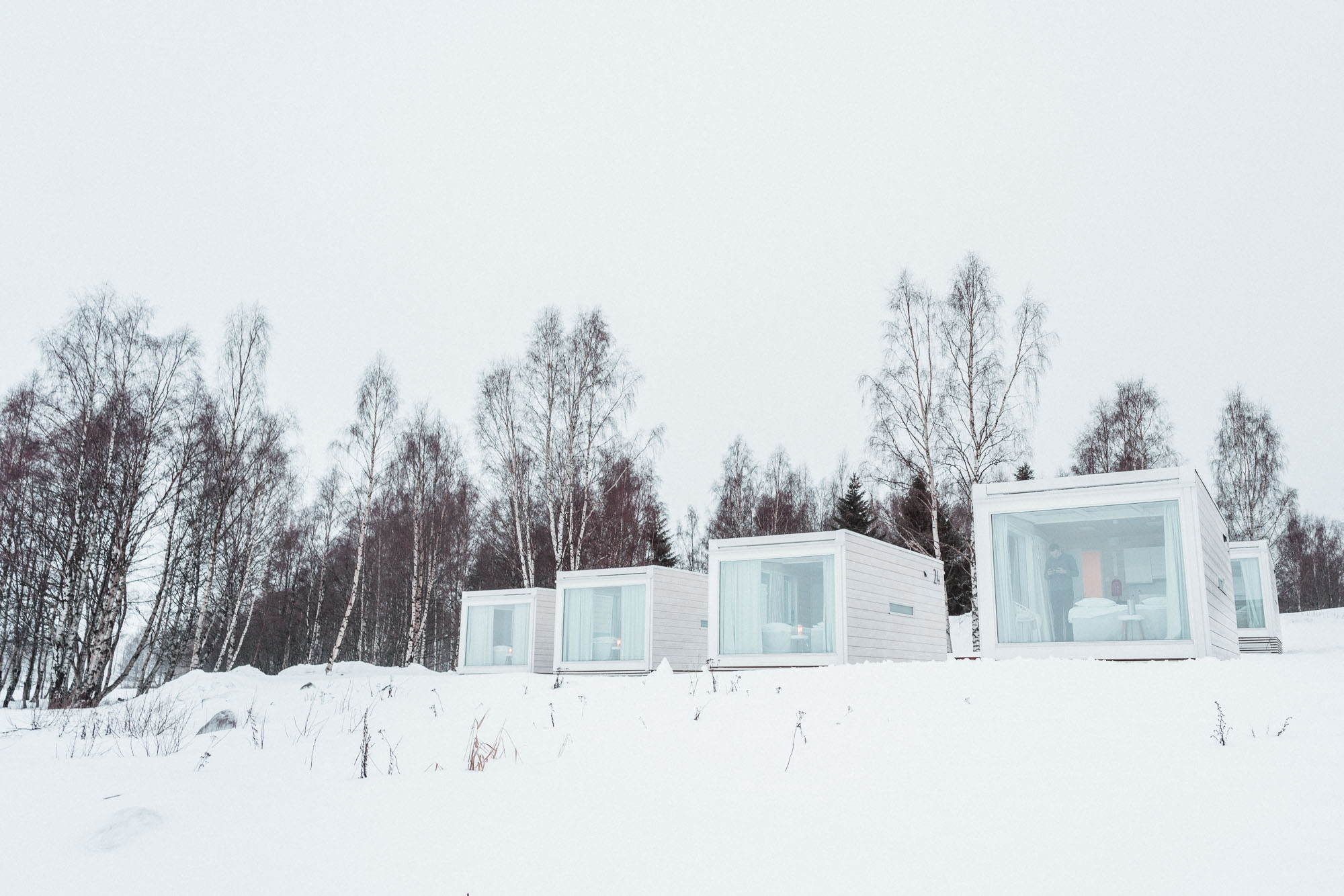 Seaside glass villas hotel in kemi lapland finland