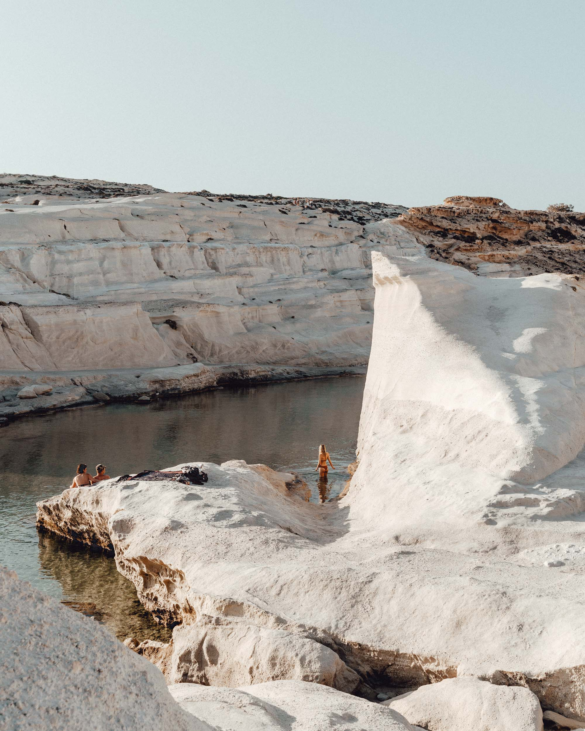 Sarakiniko white beach in Milos, Greek Islands via @finduslost