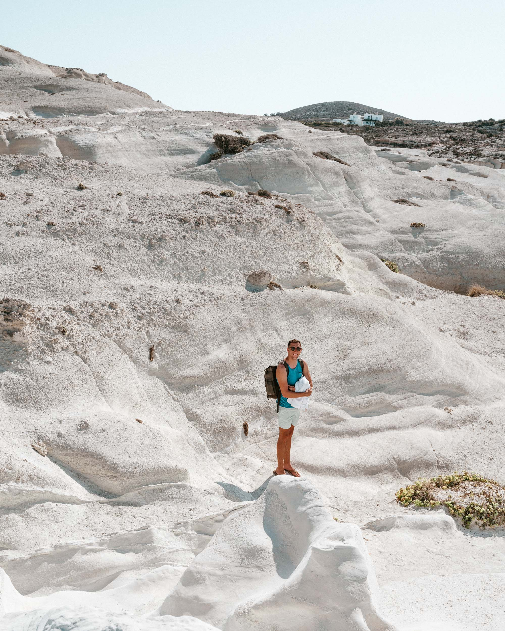 Sarakiniko white beach in Milos, Greek Islands via @finduslost
