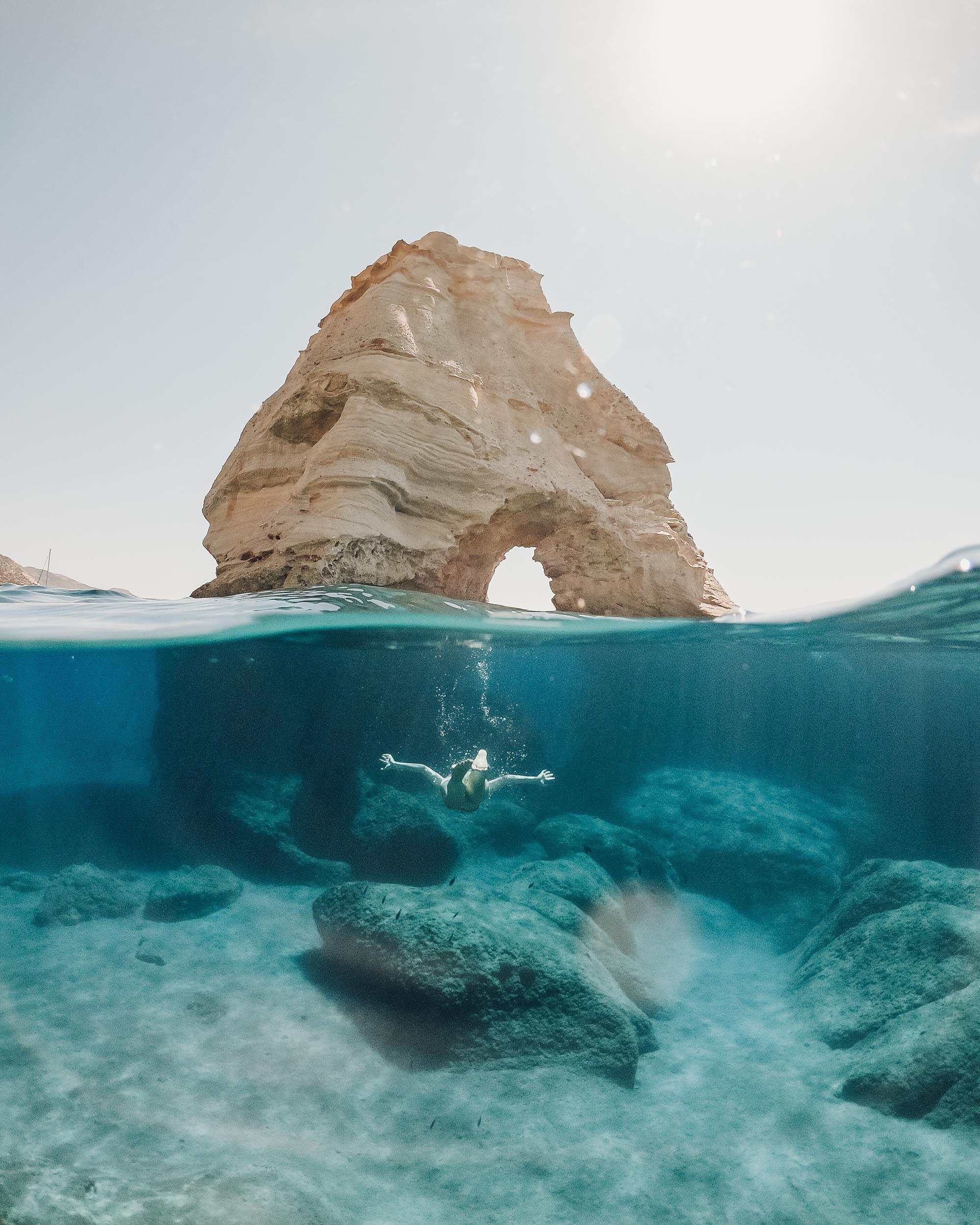 Kleftiko caves in Milos, Greece via @finduslost