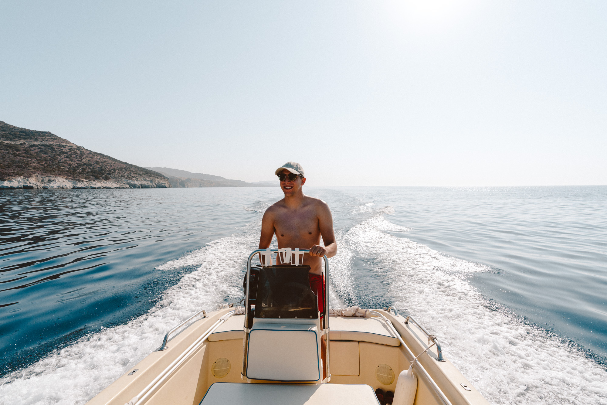 Boat day in Milos Greece via @finduslost