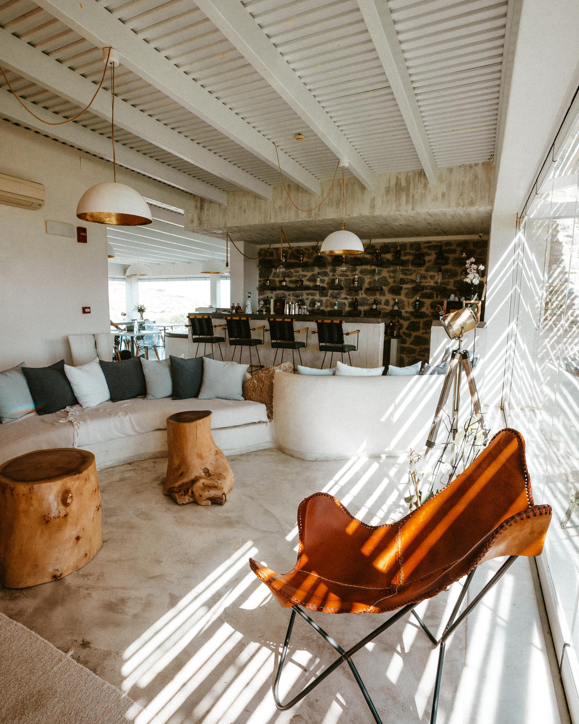 Naxian Collection hotel lobby in Naxos, Greek Islands via @finduslost