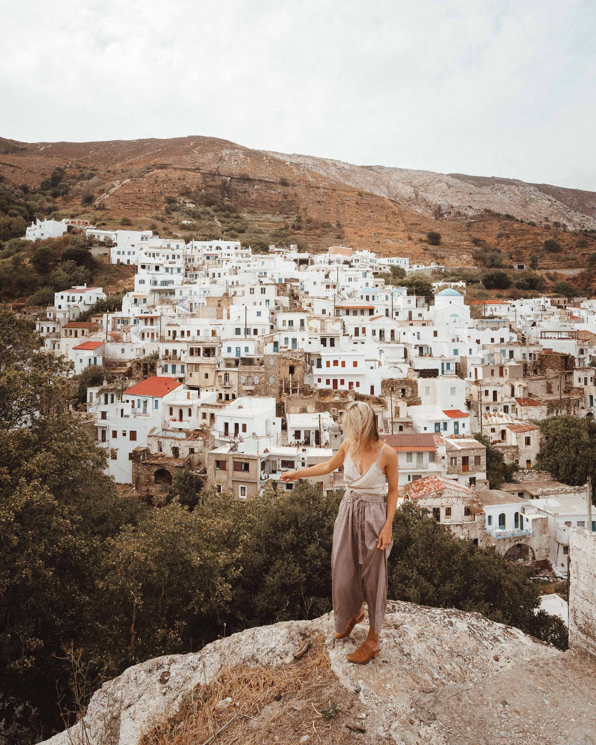 Koronos mountain village in Naxos, Greek Islands via @finduslost