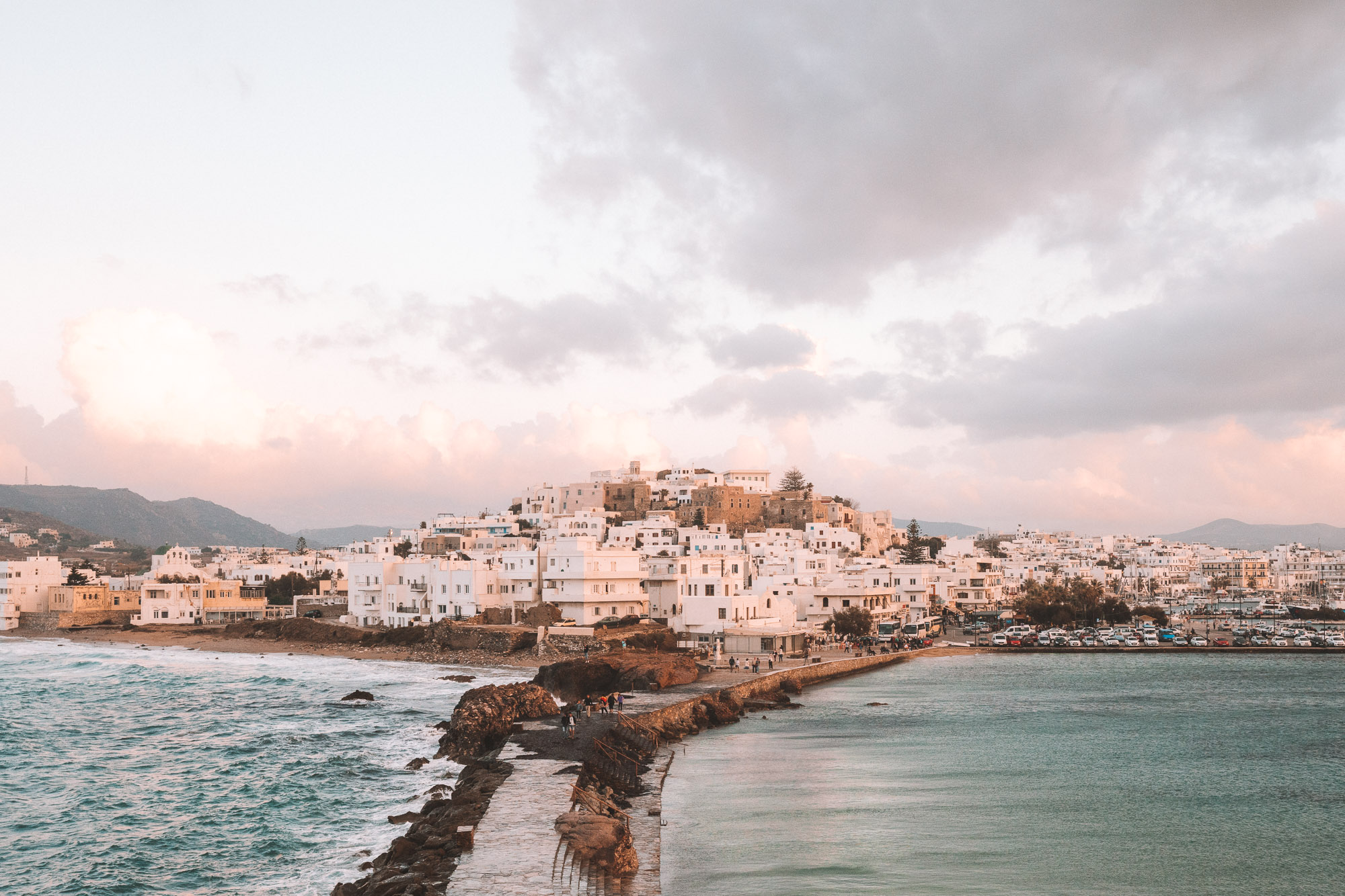 Downtown Naxos from Portara in Naxos, Greece via @finduslost