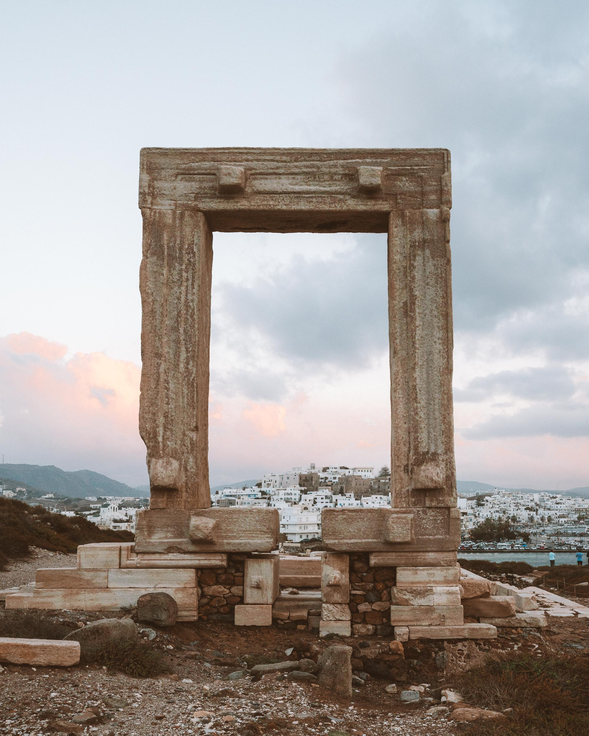 Protara arch in Naxos, Greek Islands at sunset via @finduslost