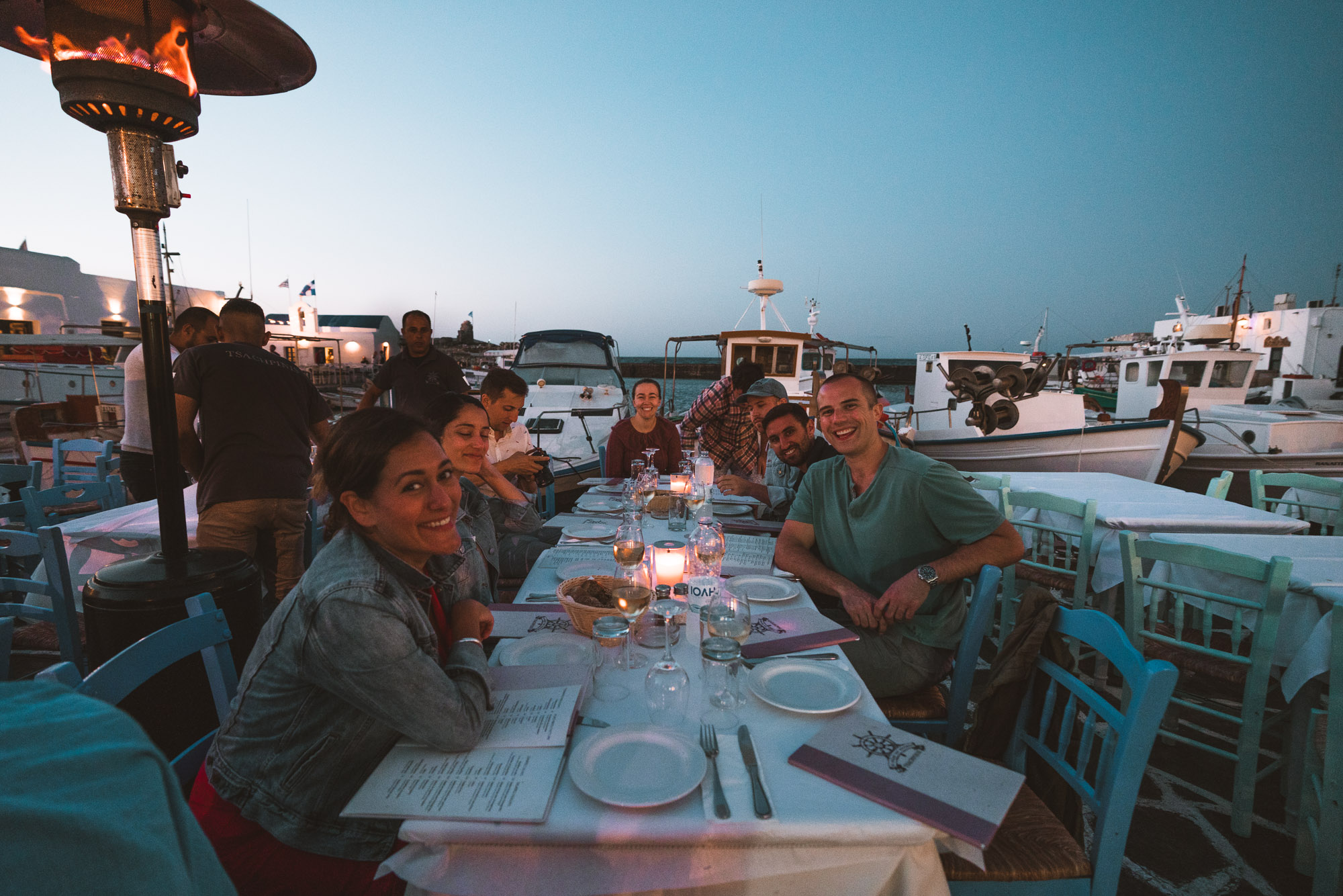 Dinner in Paros, Greek Islands via @finduslost