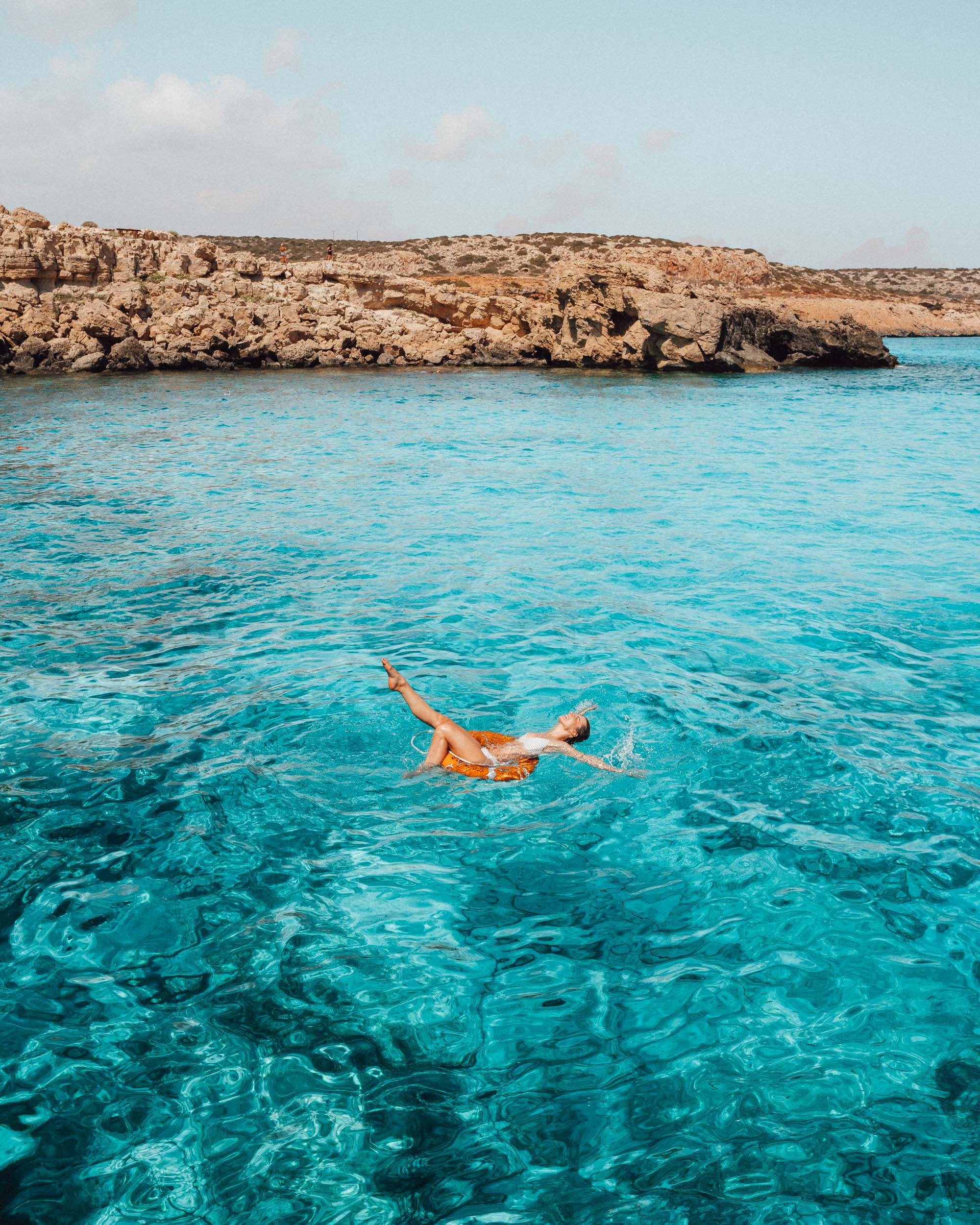 Blue water in Ayia Napa Cyprus via @finduslost