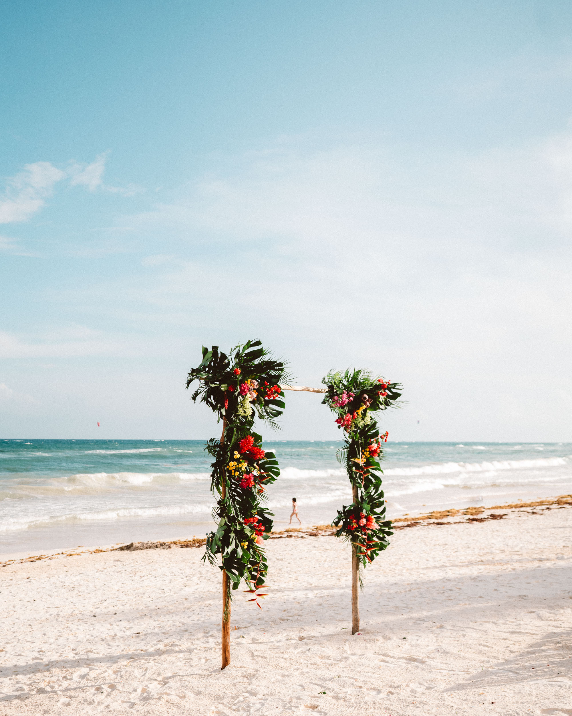 Beach wedding in Tulum Quintana Roo Mexico via Find Us Lost