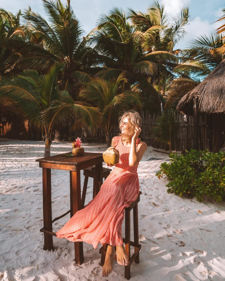A Pink Dress in Tulum, Mexico