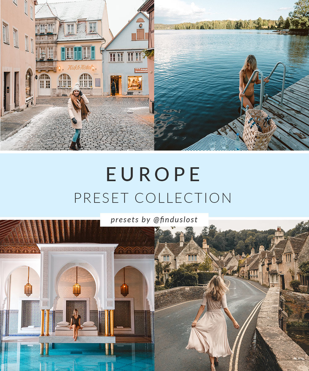 Adobe Lightroom Presets by Find Us Lost | Europe Collection